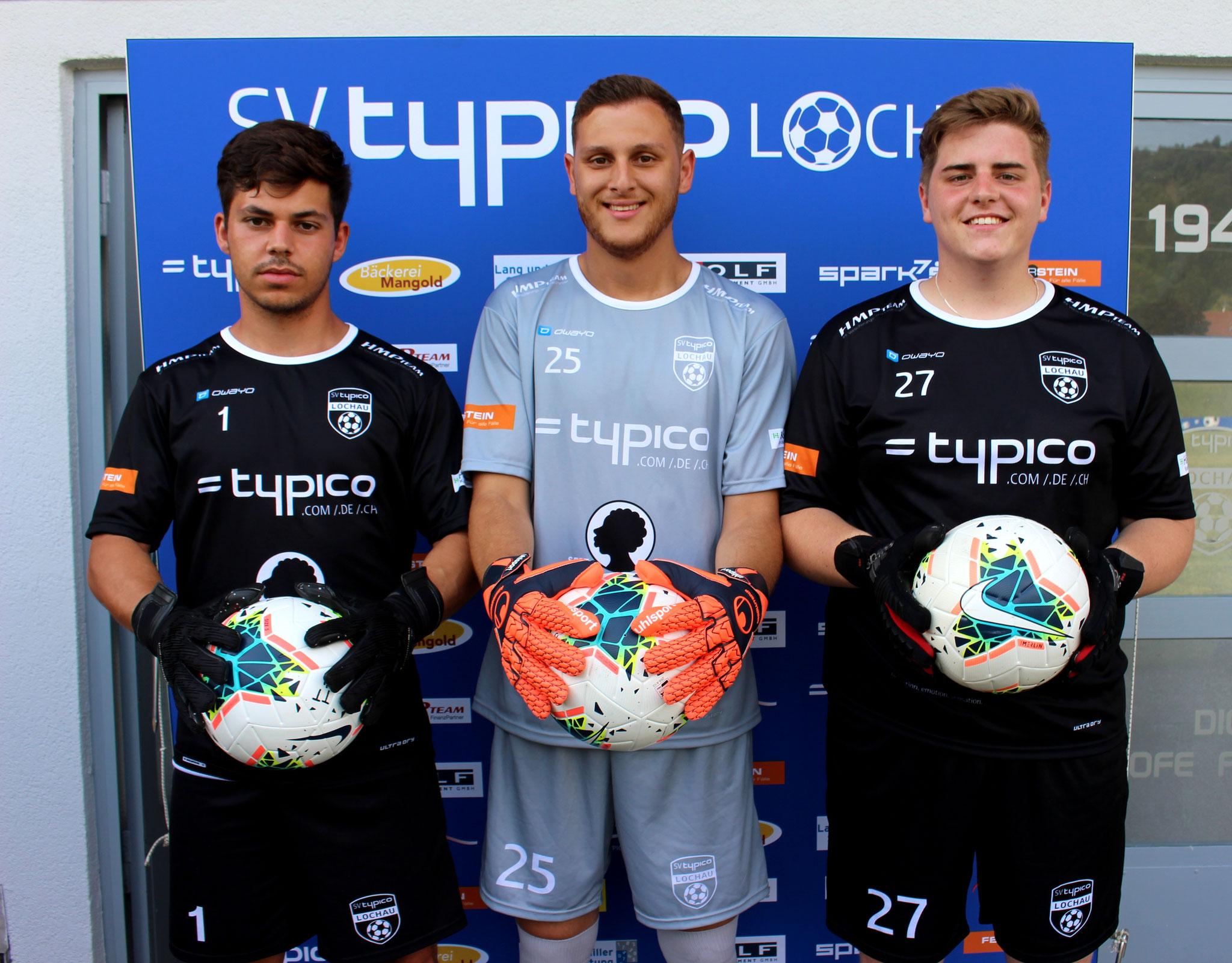Unsere drei Tormänner Sandro Eichhübl, Zekeriya Bayramoglu & Niels Hehle