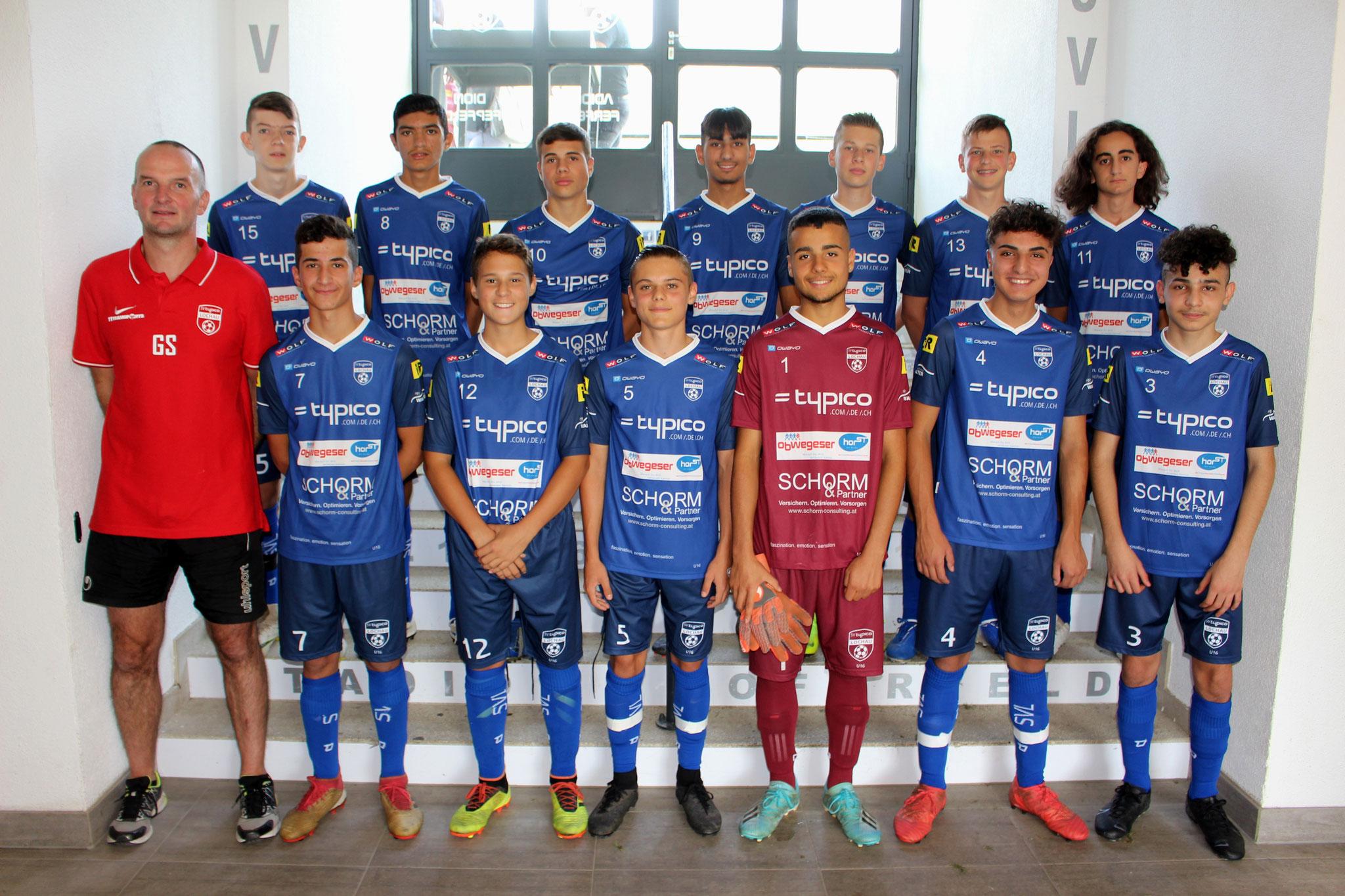 SVL U16 mit Trainer Günther Steffani