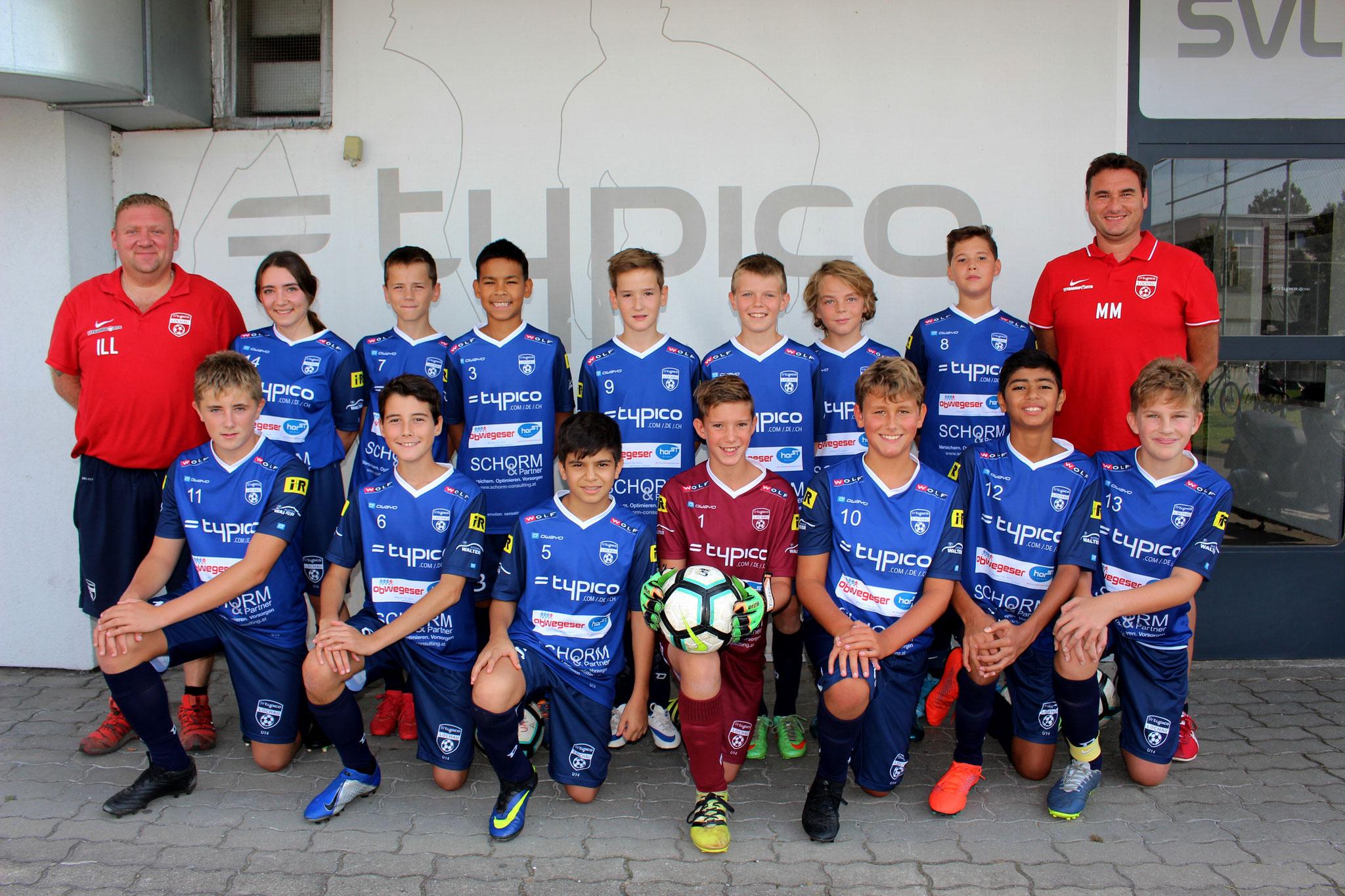 SVL U14 mit Trainer Christian Ill und Co-Trainer Martin Malin