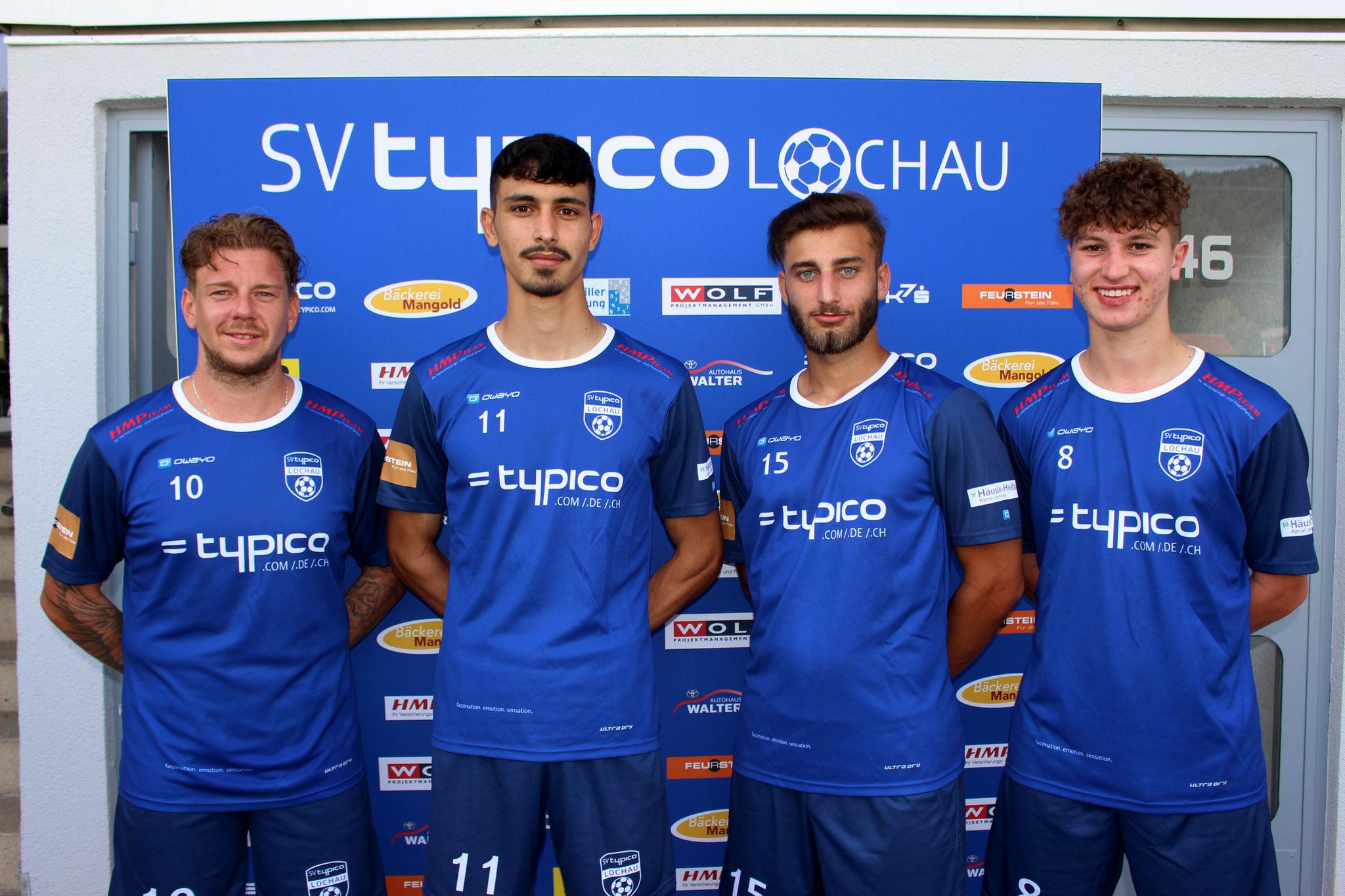 Unsere Sommer-Neuzugänge Stefan Maccani, Tarkan Parlak, Mücahit Özdemir & Rene Nesensohn (Fatih Yildirim fehlt)