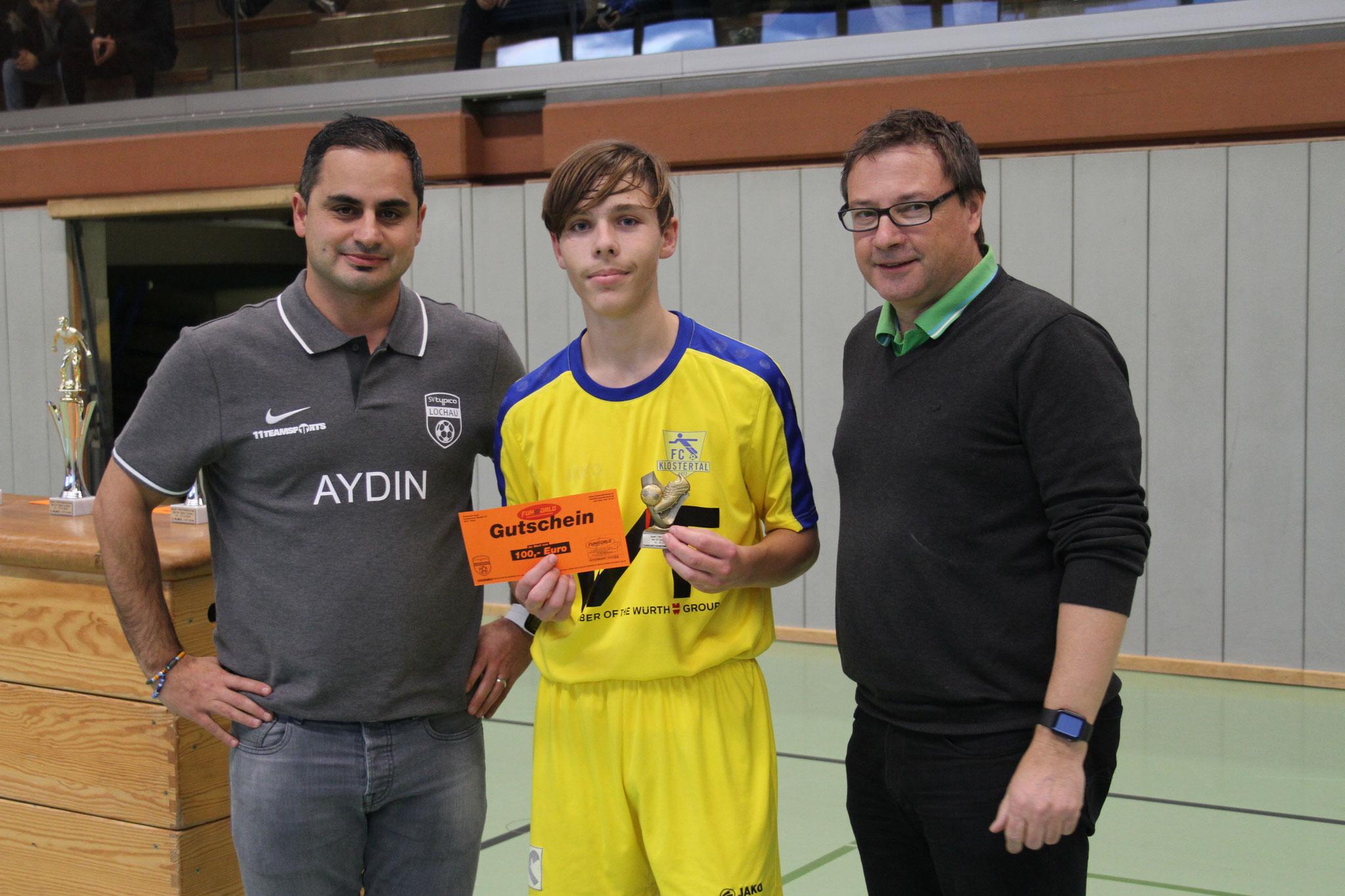 Torschützenkönig U14 - Julian Bischof (FC Klostertal)