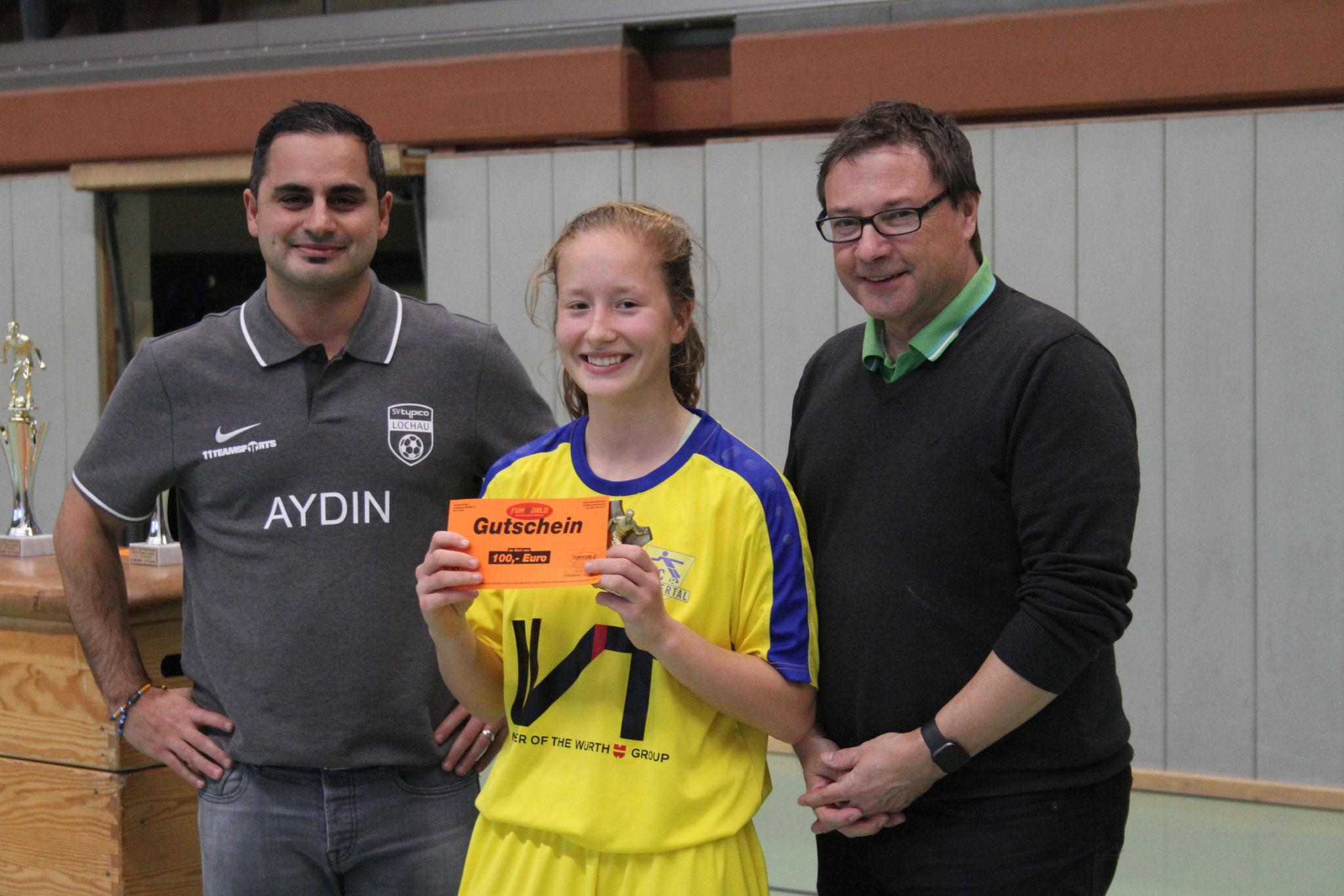 Bester Spieler (bzw. Spielerin) U14 - Amelie Roduner (FC Klostertal)