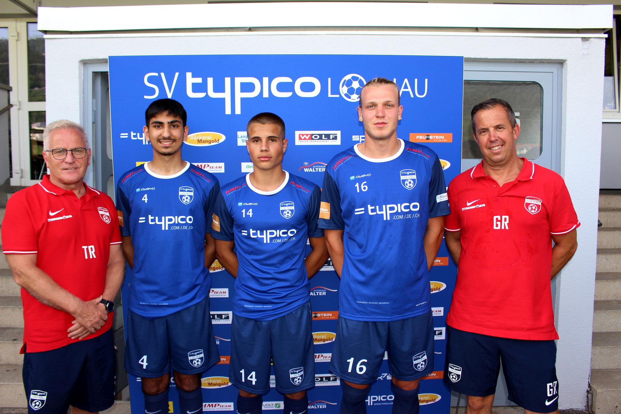 Die drei 1b-Spieler Serkan Killic, Matteo Außerlechner und Philipp Rupp wurden vom Trainerteam in den Kader der KM hochgezogen