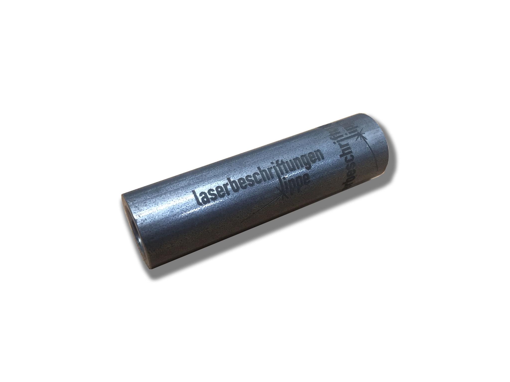 Rundes Teil -Rundteil mit Laserbeschriftung - Lasergravur