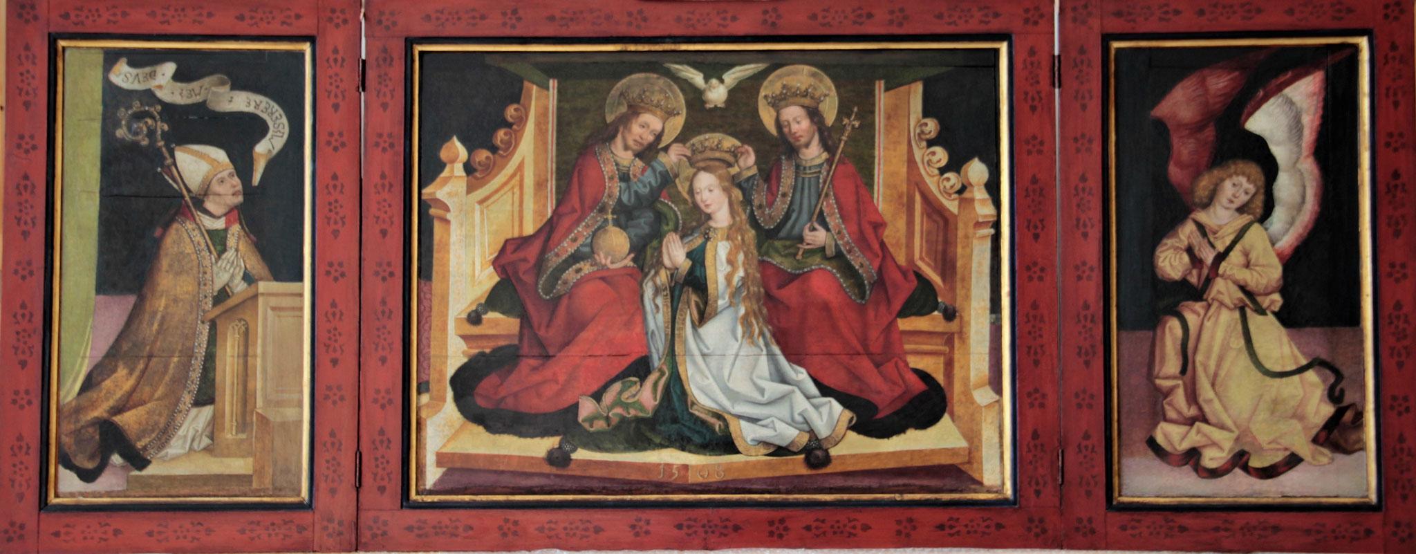 Triptychon Umkreis Jan Pollack 1508 Konservierung/ Retusche der Gemälde