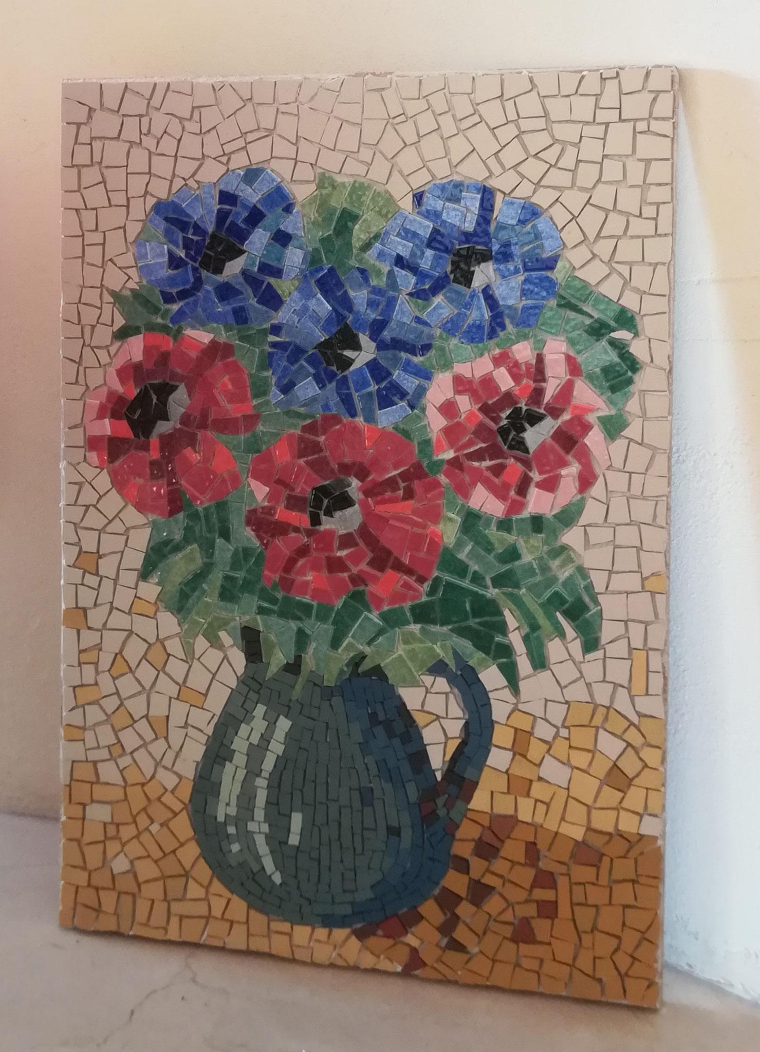 Patrisio du 40 nous montre son bouquet de fleur qui partira en Italie pour son père,