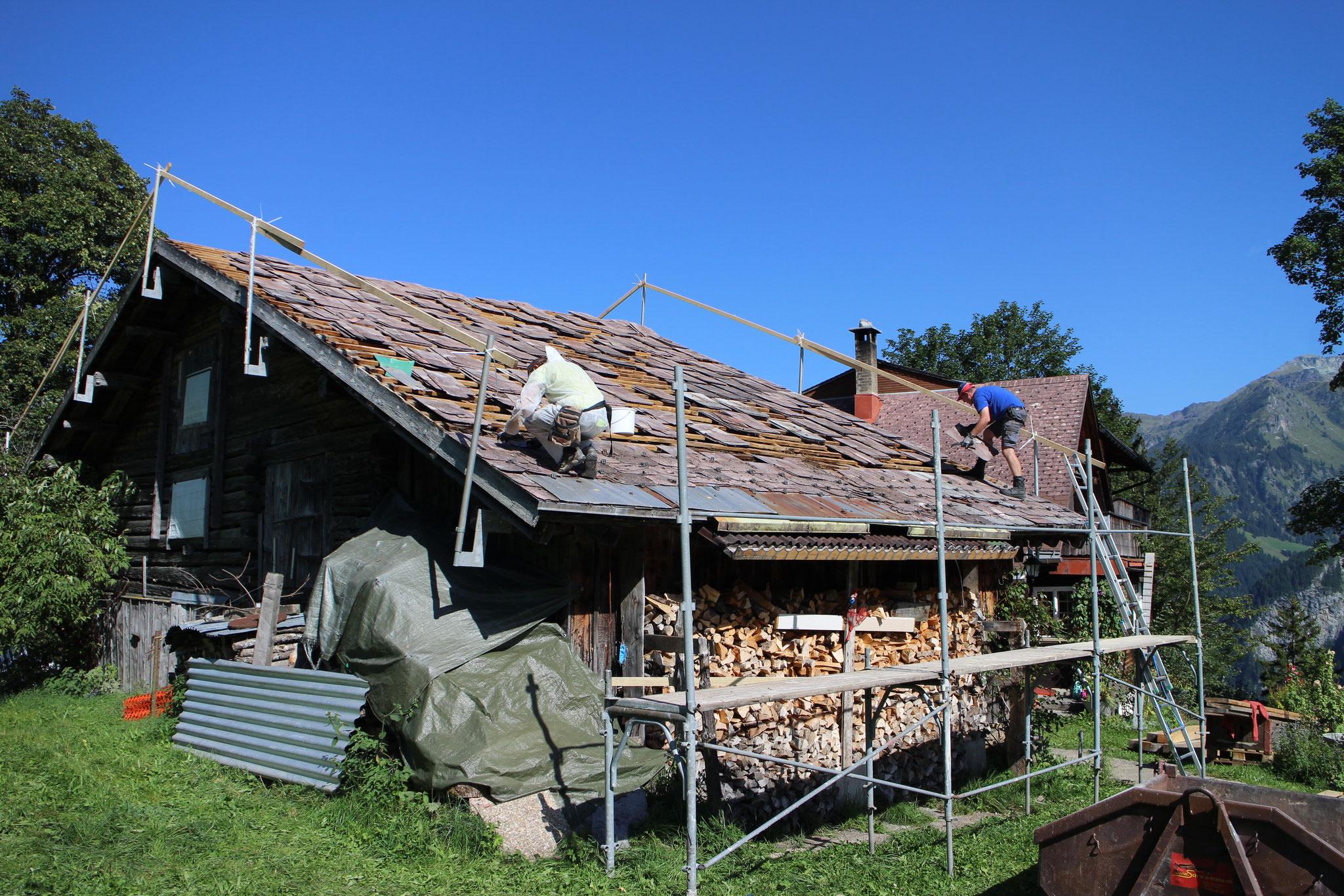 Dachsanierung einer Scheune