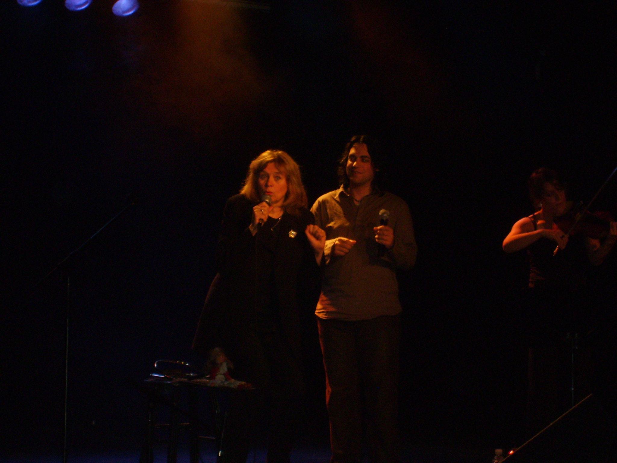Avec Édith Butler & Marie-Pierre Lecault, 2008 | Photo : Léandre Bergeron