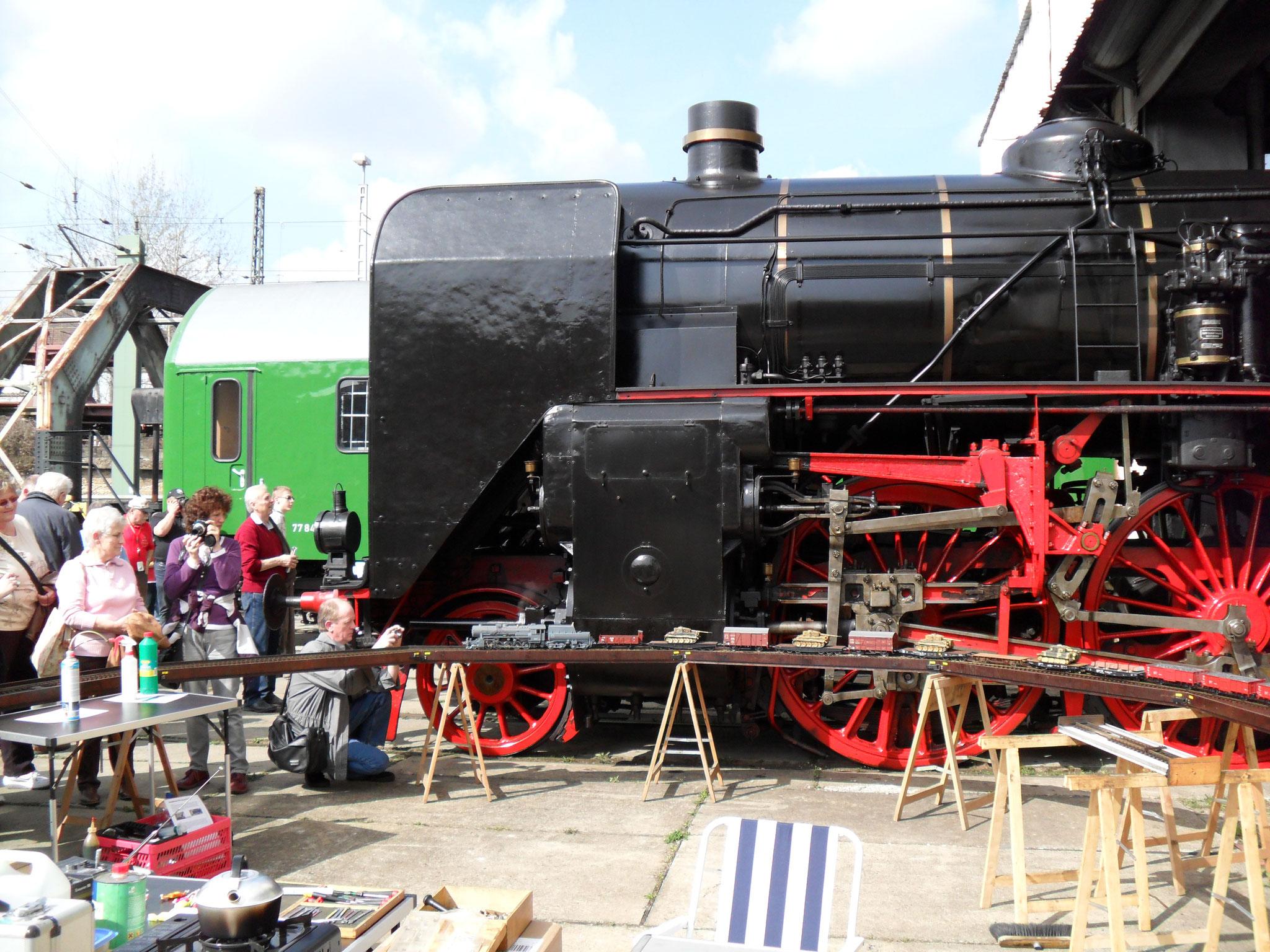 Dampfloktreffen Dresden 2011, große mobile Anlage mit DMR Reppingen und Freunden