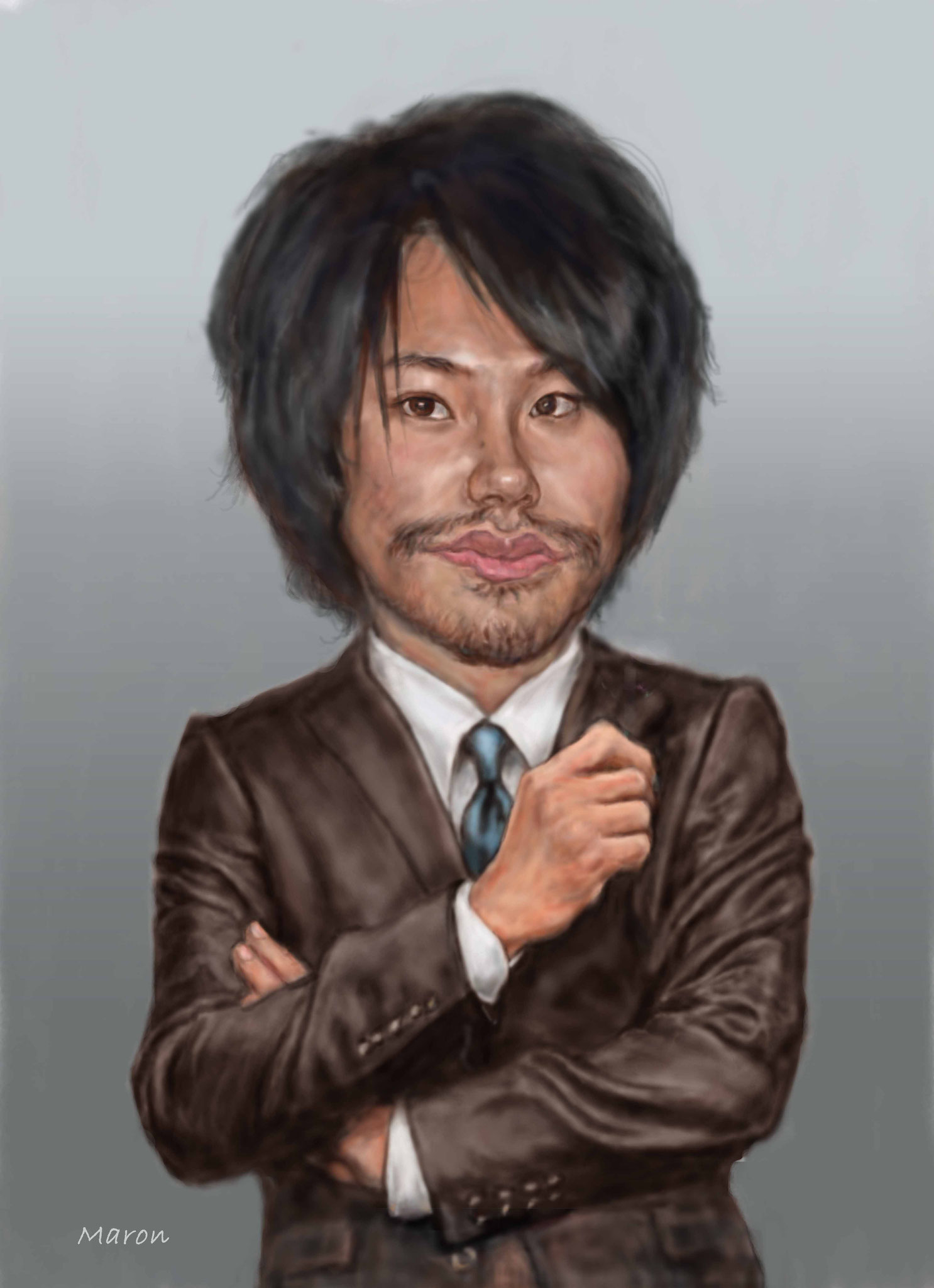 【カリカチュアな似顔絵】松山ケンイチさん