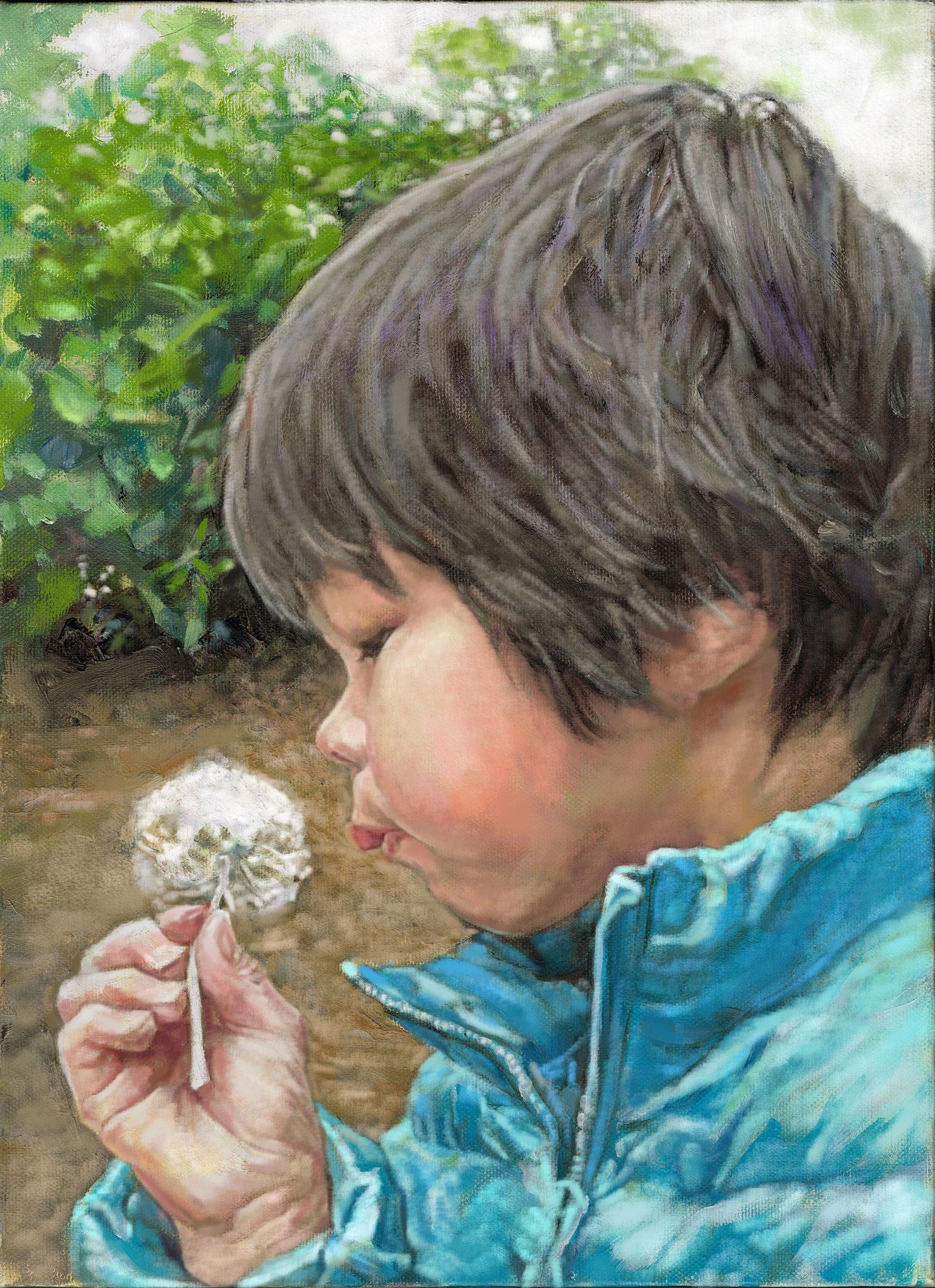 油絵肖像画・子供