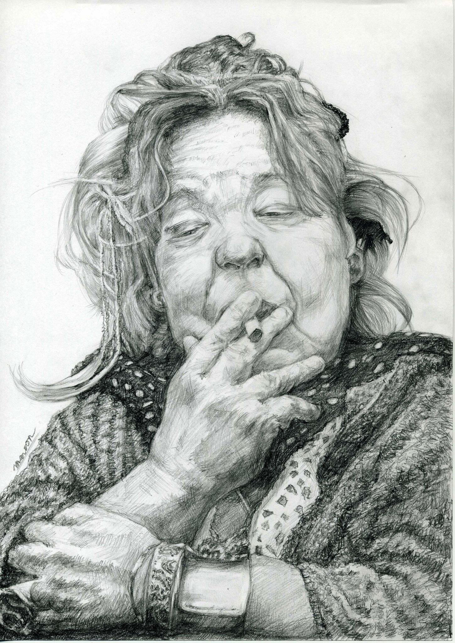 【リアルデッサン・肖像画】フジコ・ヘミングさん
