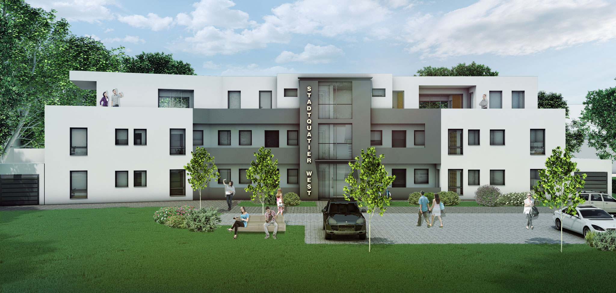 Mehrfamilienhaus, Schwerte - Rendering Solutions