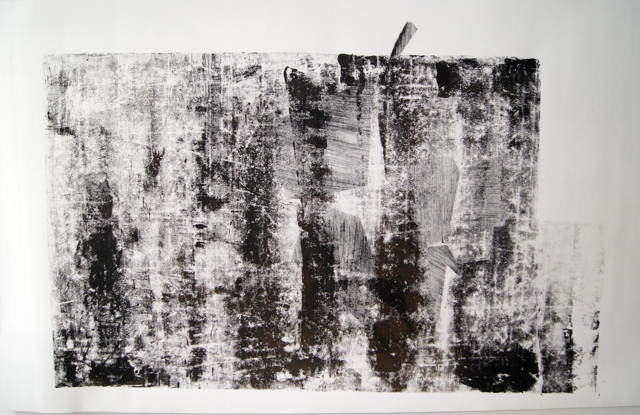 o.T. II, 2017, 256 x 150cm linolprint