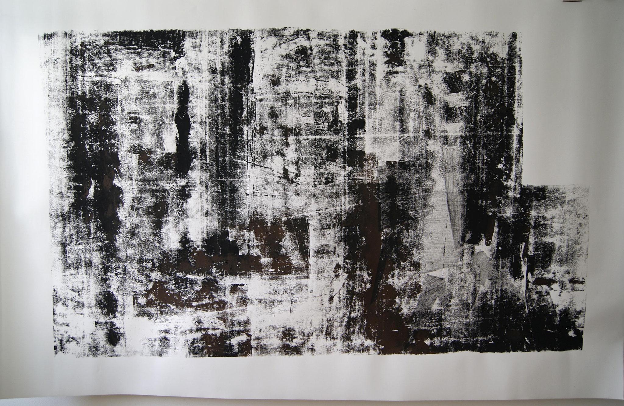 o.T. III, 2017, 250 x 150cm linolprint