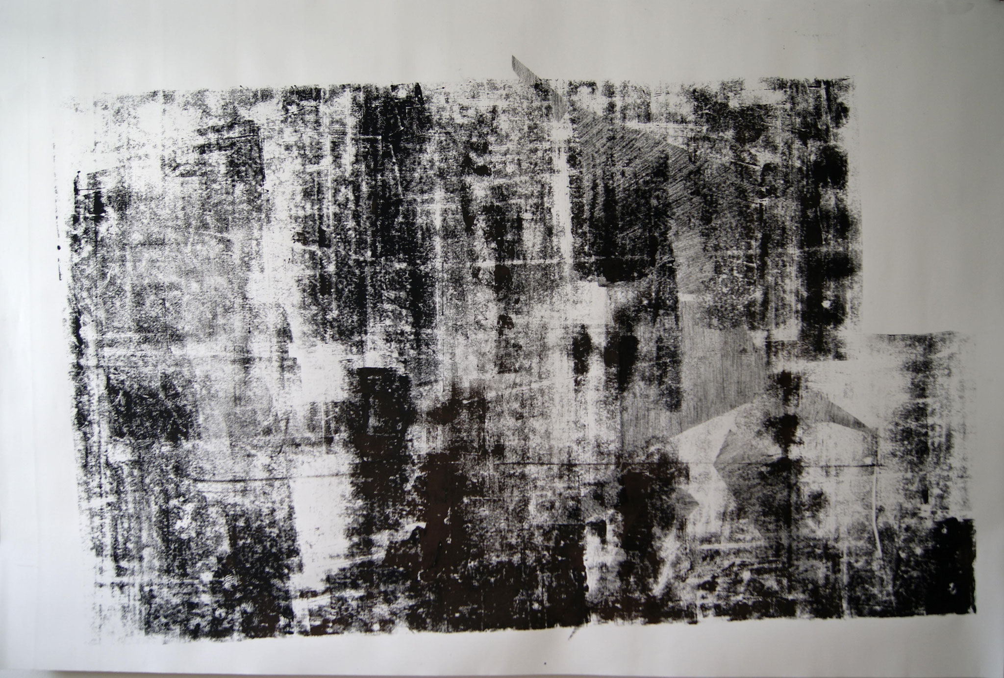 o.T. I, 2017; 228 x 150cm linolprint