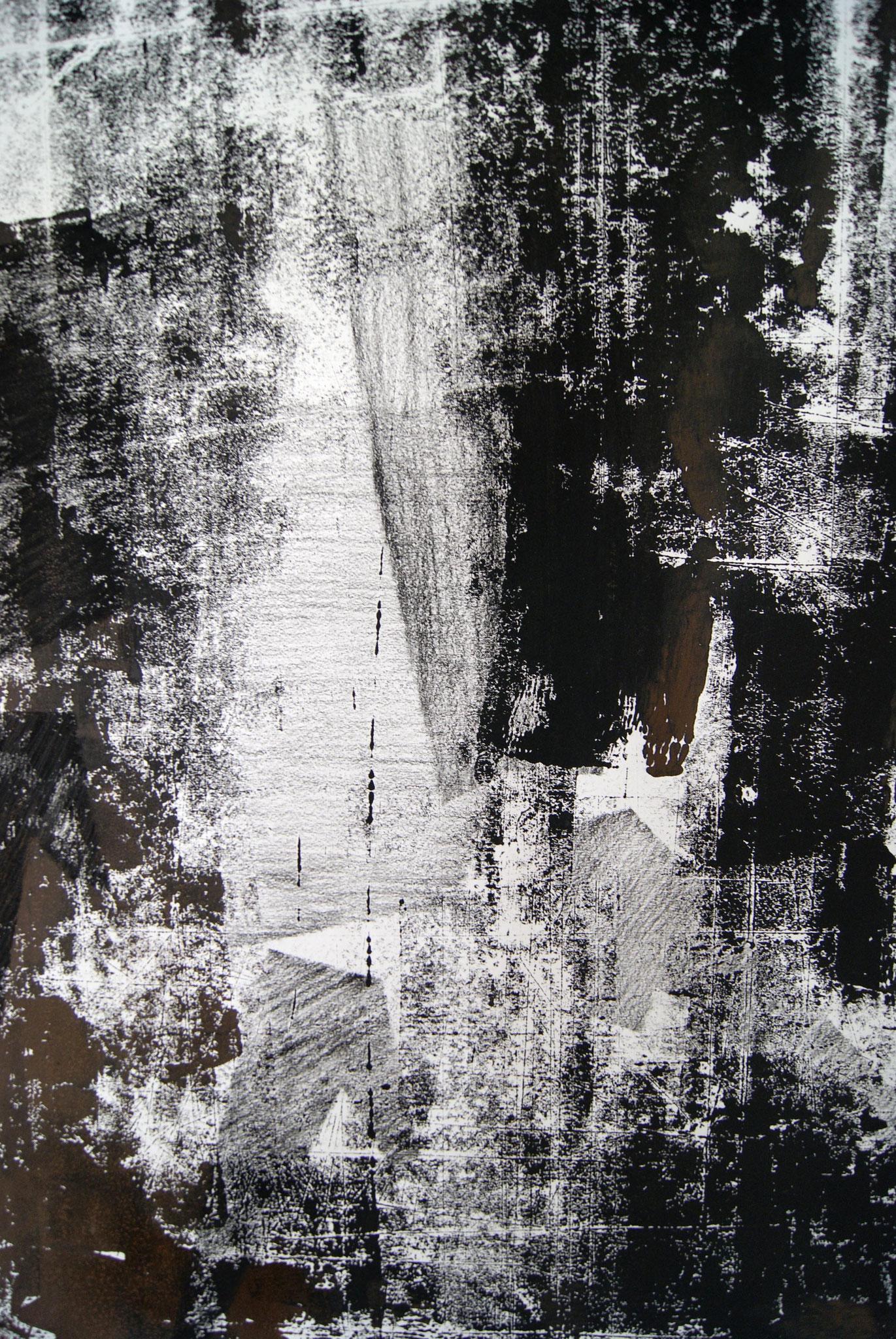 o.T. III, 2017, detail, 250 x 150cm linolprint