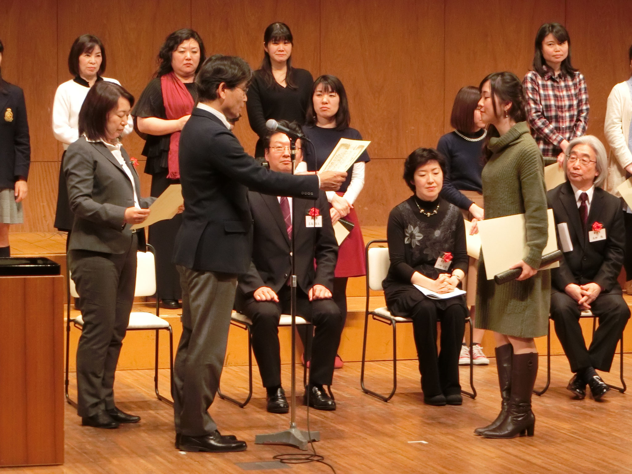 今年も松村先生から総合3位の賞状をいただきました!