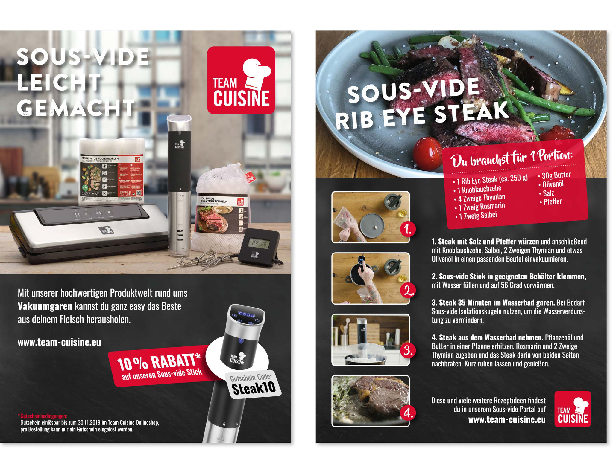 TEAM CUISINE· Flyer · Konzeption, Gestaltung · WINTERPOL