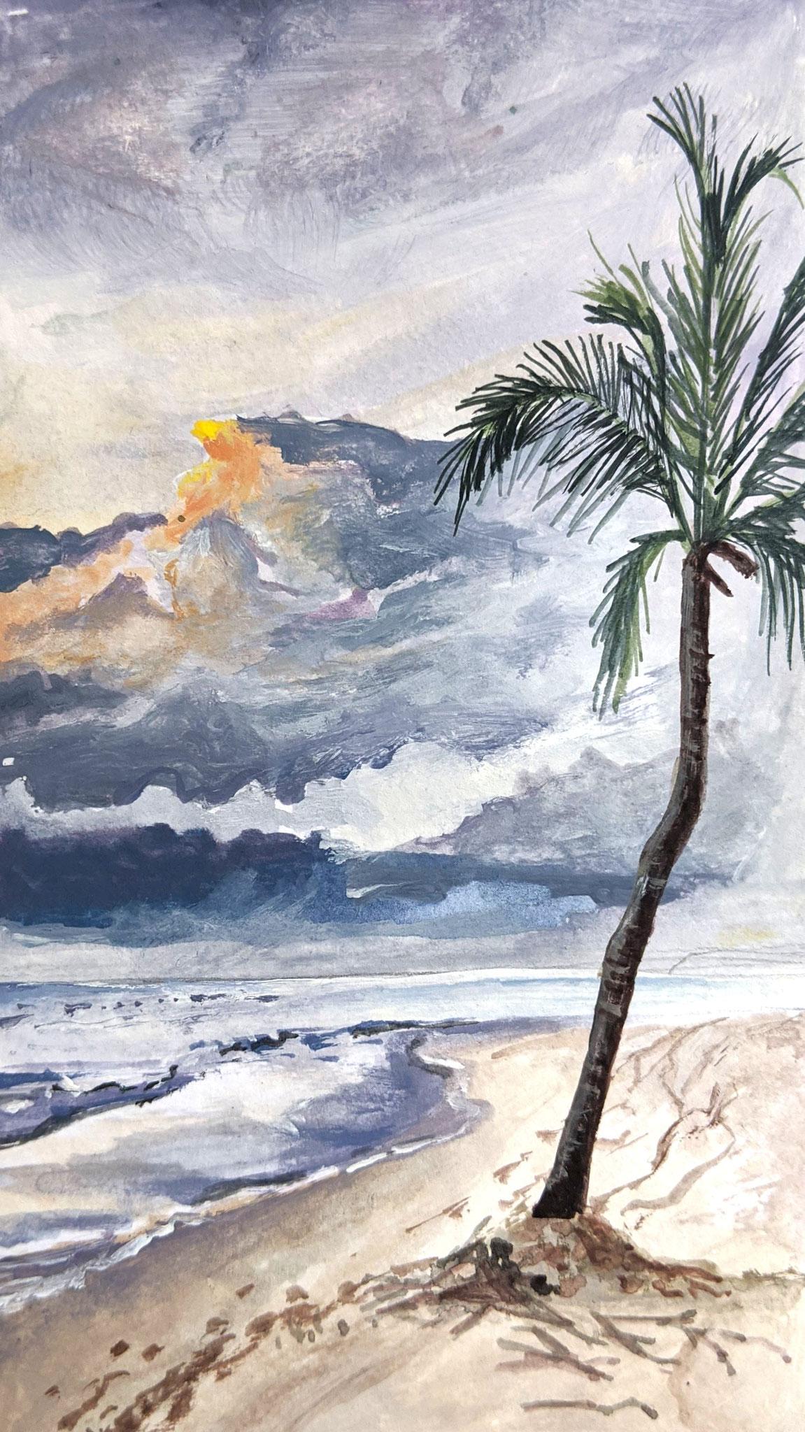 Strandgewitter (Aquarellskizzenbuch)