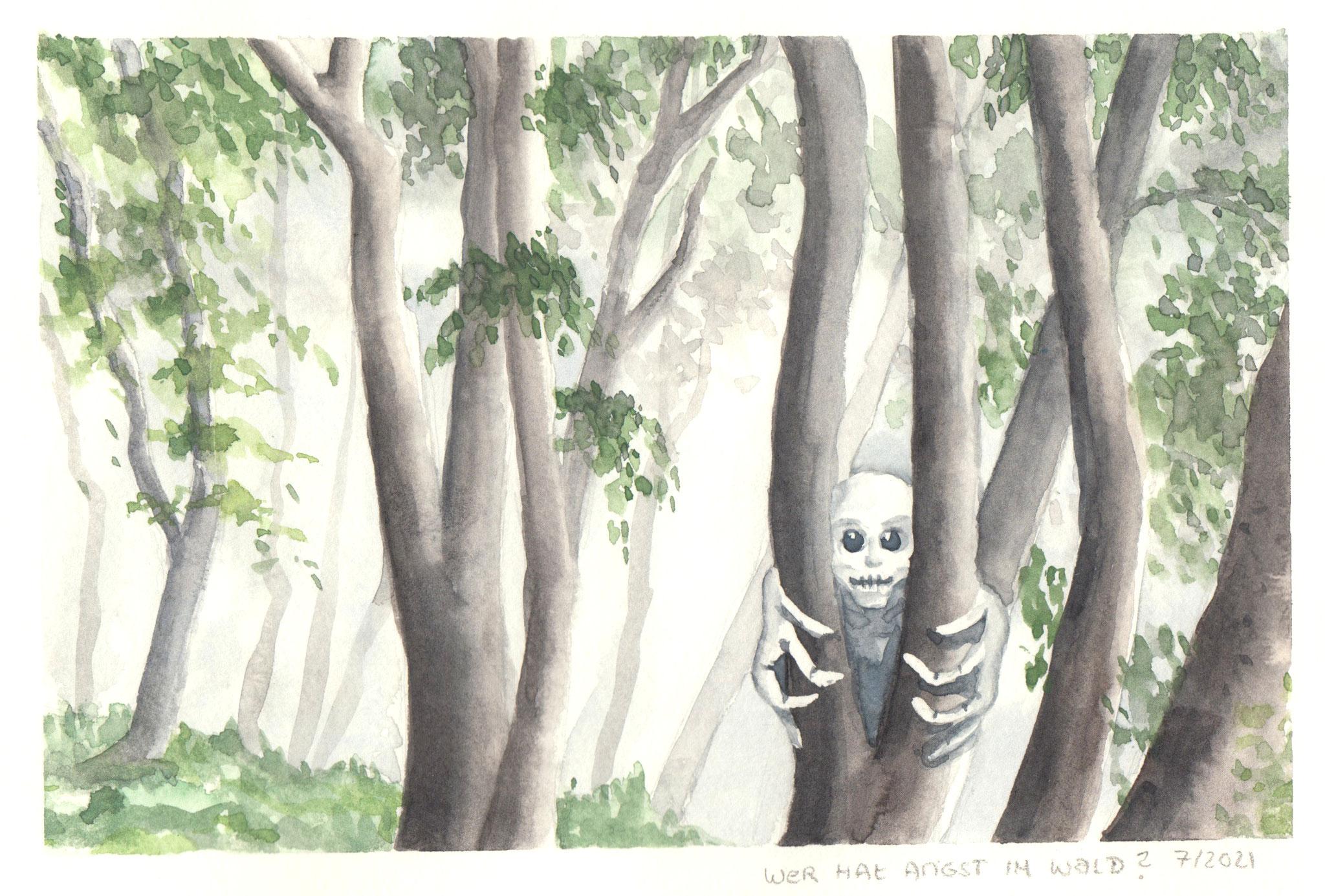 Angst im grünen Wald (Aquarellskizzenbuch)