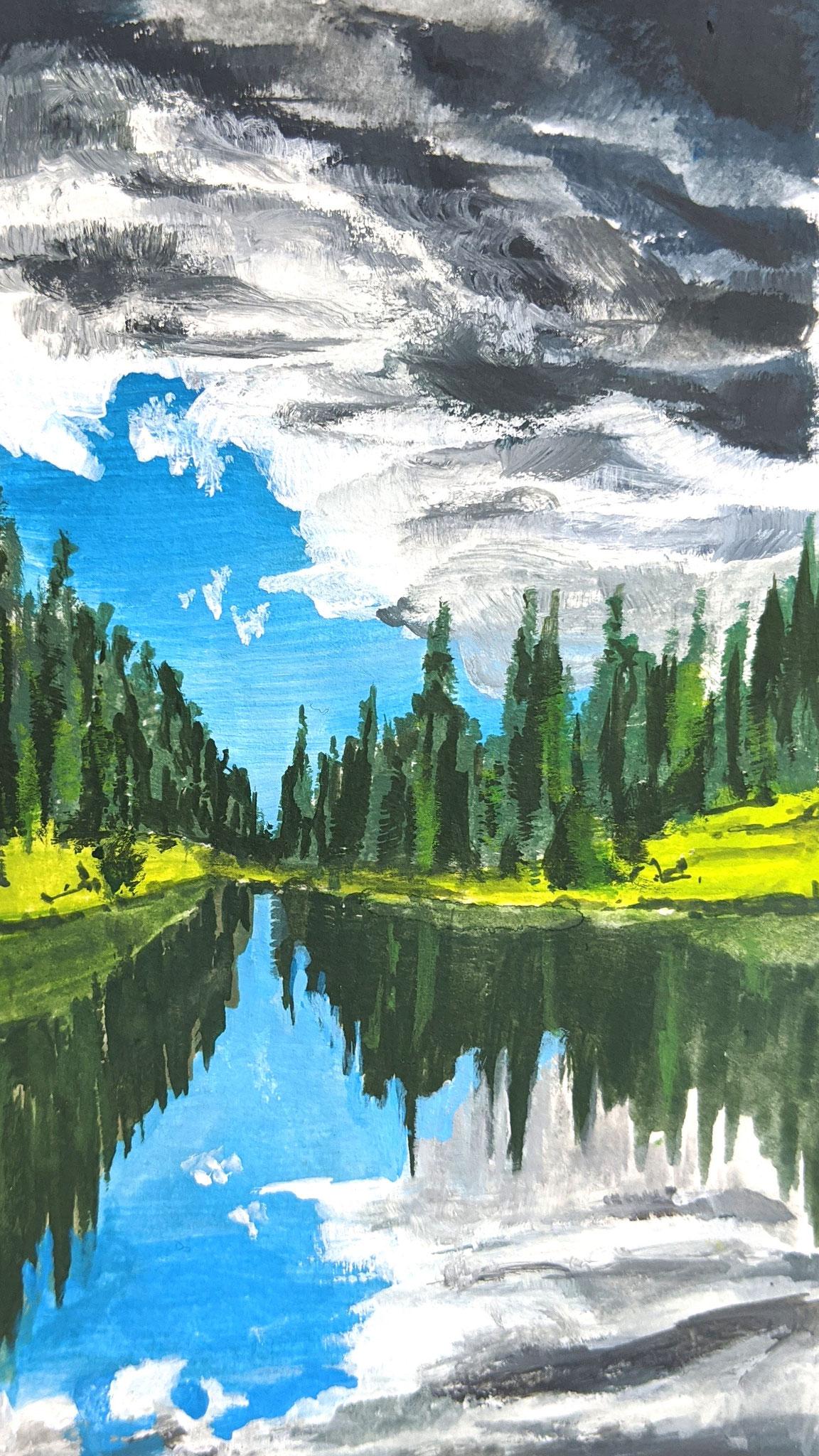 Waldsee (Aquarellskizzenbuch)