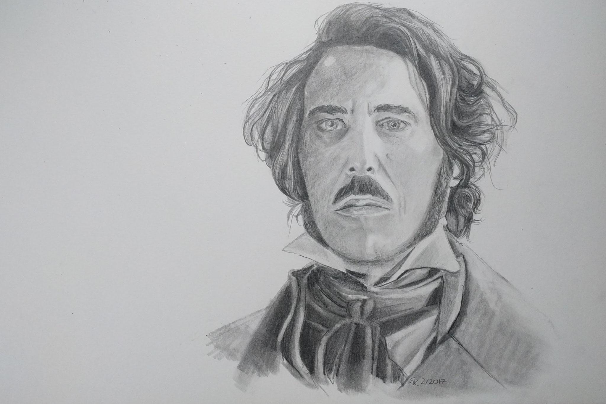 Ciarán Hinds als Edward Rochester (Skizzenblock, DIN A3)