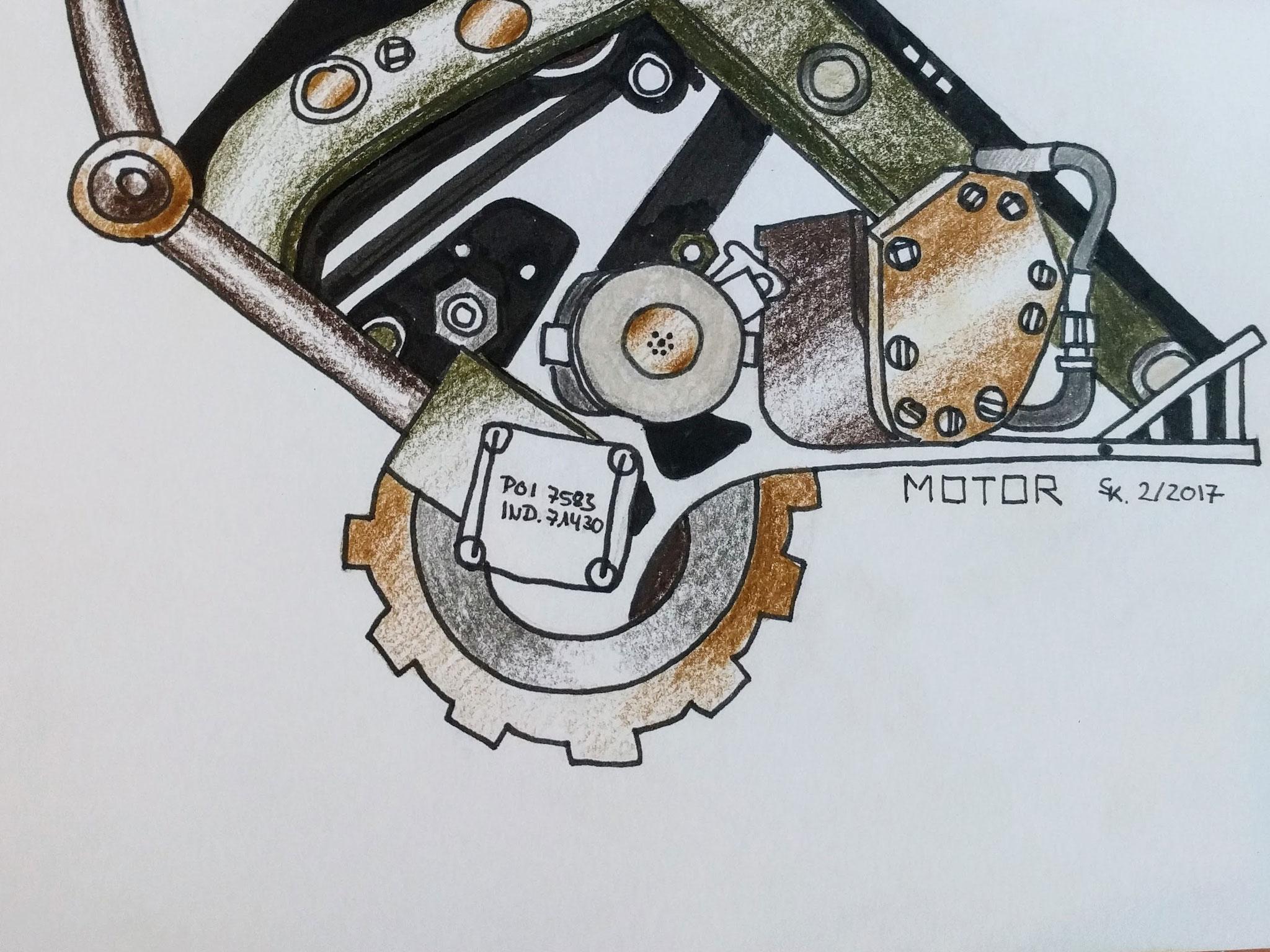 Motor (Skizzenbuch, 13x21cm)