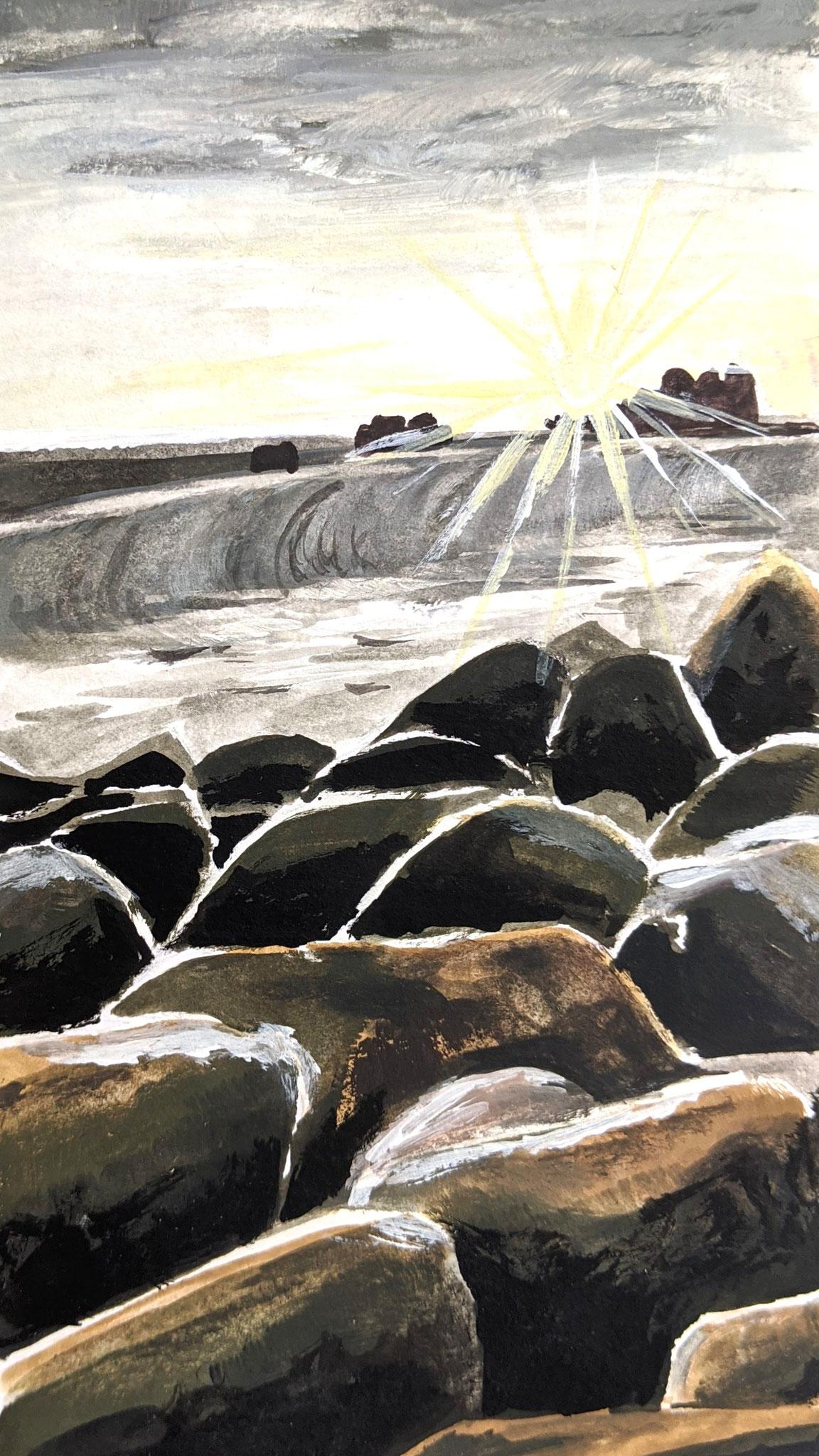 Steinküste (Aquarellskizzenbuch)