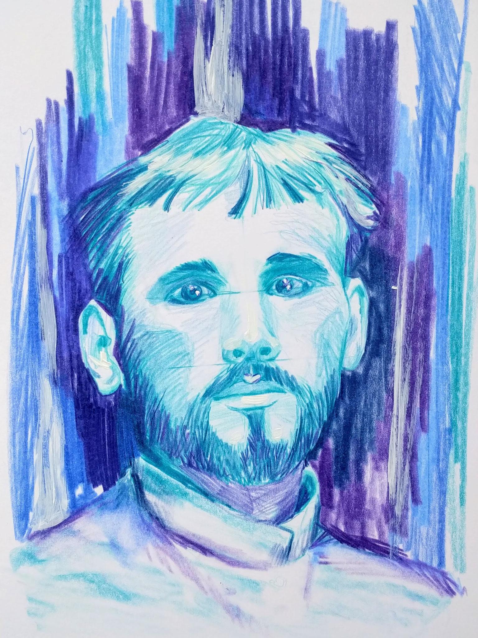 Gustav Klimt (Zeichenpapier, 21x29cm)