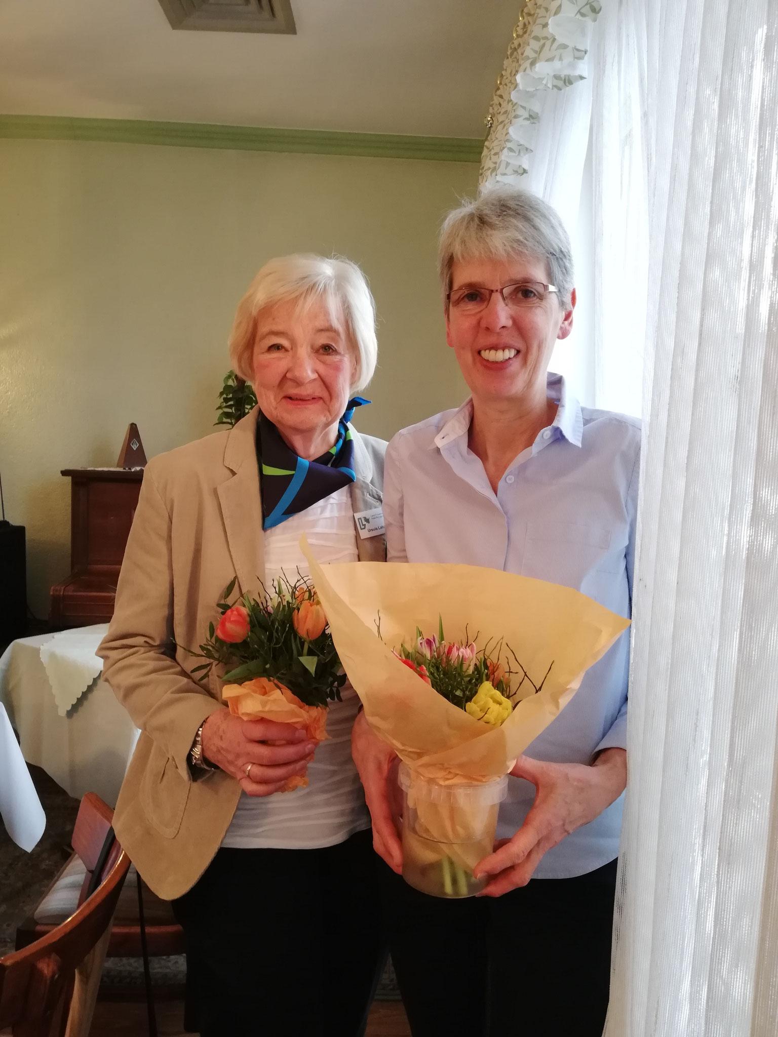 Frau Ursula Lahann und Frau Elke Möller von den Kreislandfrauen nahmen auch an unserer Jahreshauptversammlung teil