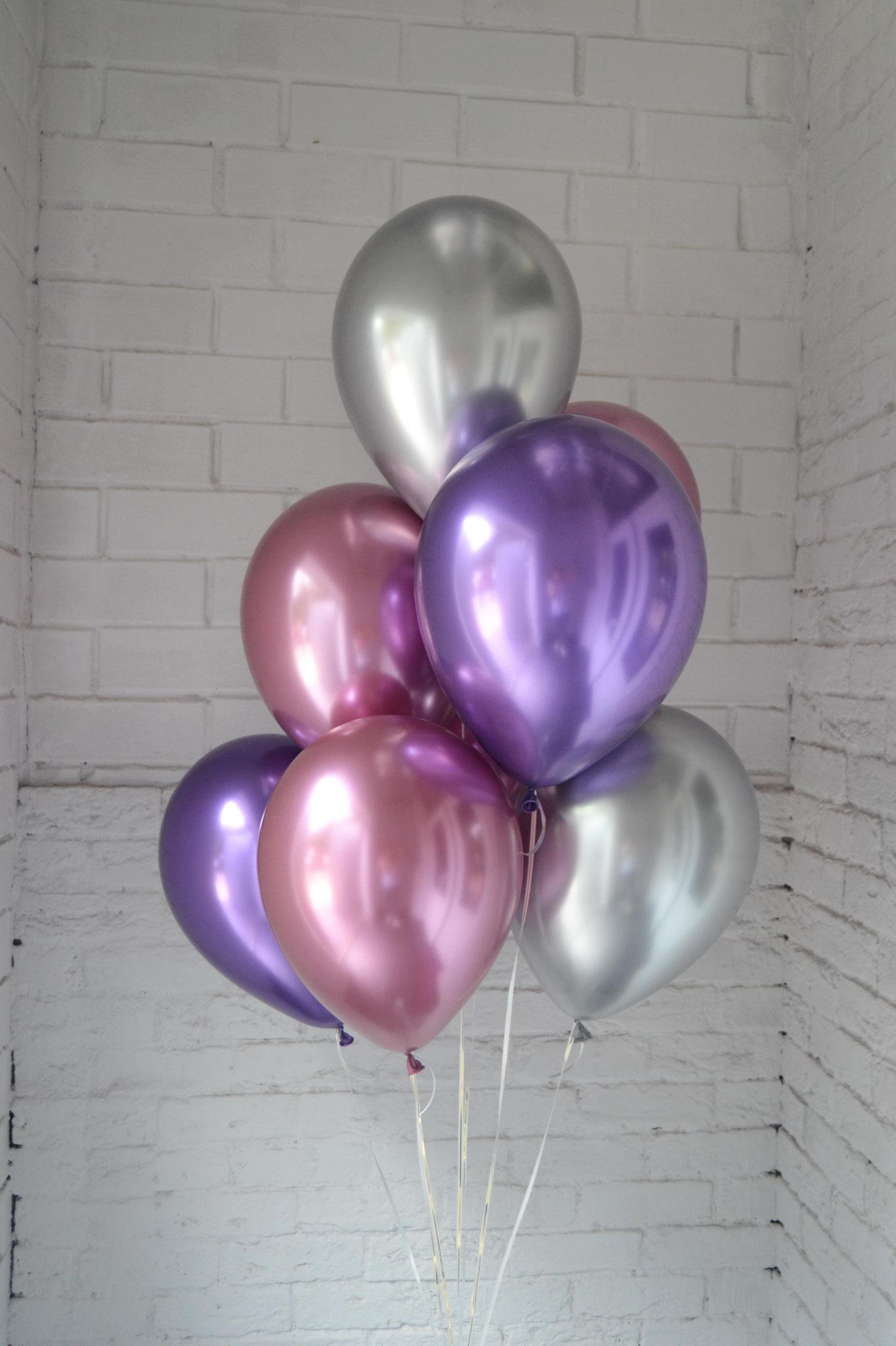 Розовый, фиолетовый, серебро