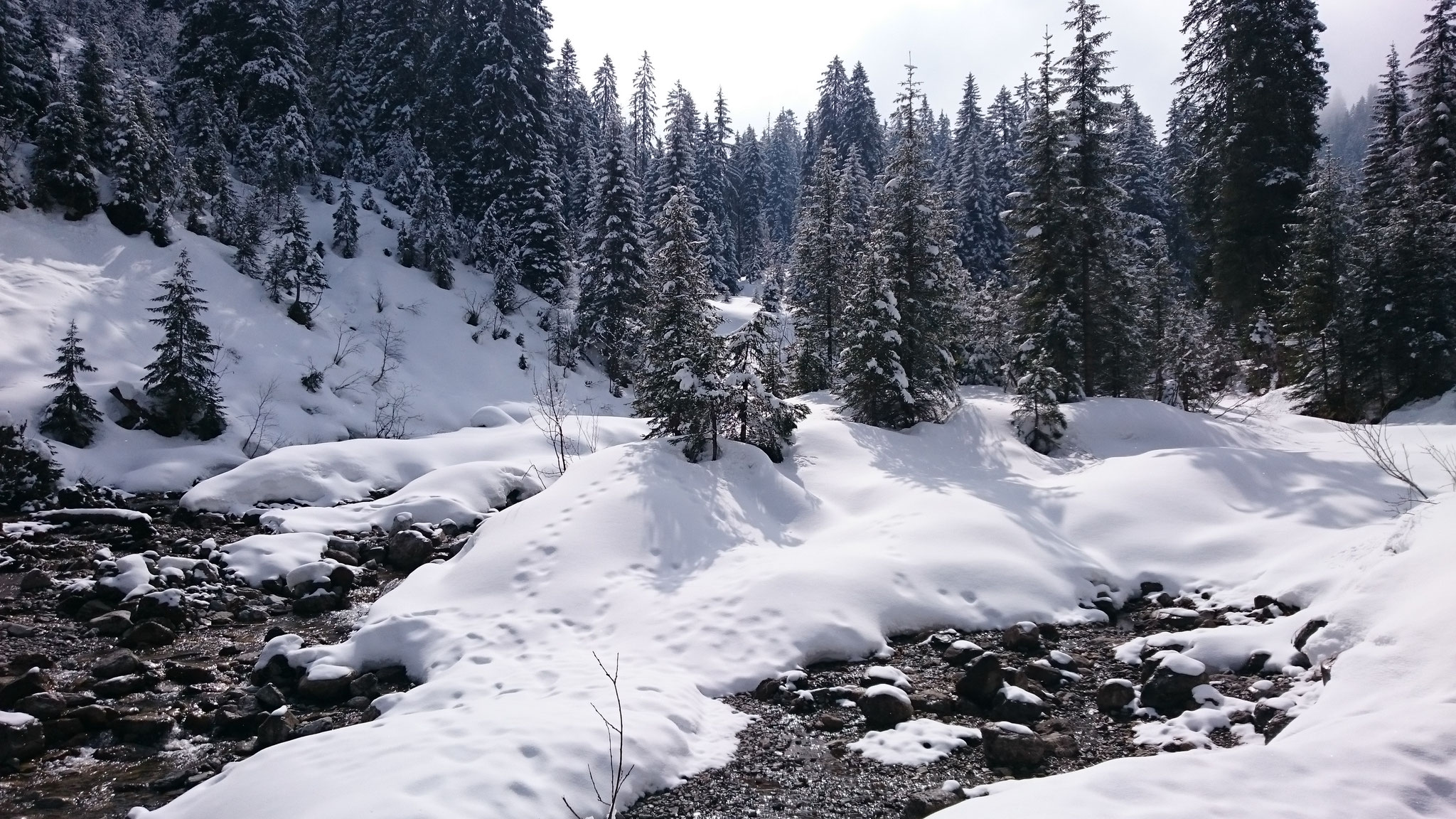 Winterwanderweg Mittelberg, Bödmen - Baad