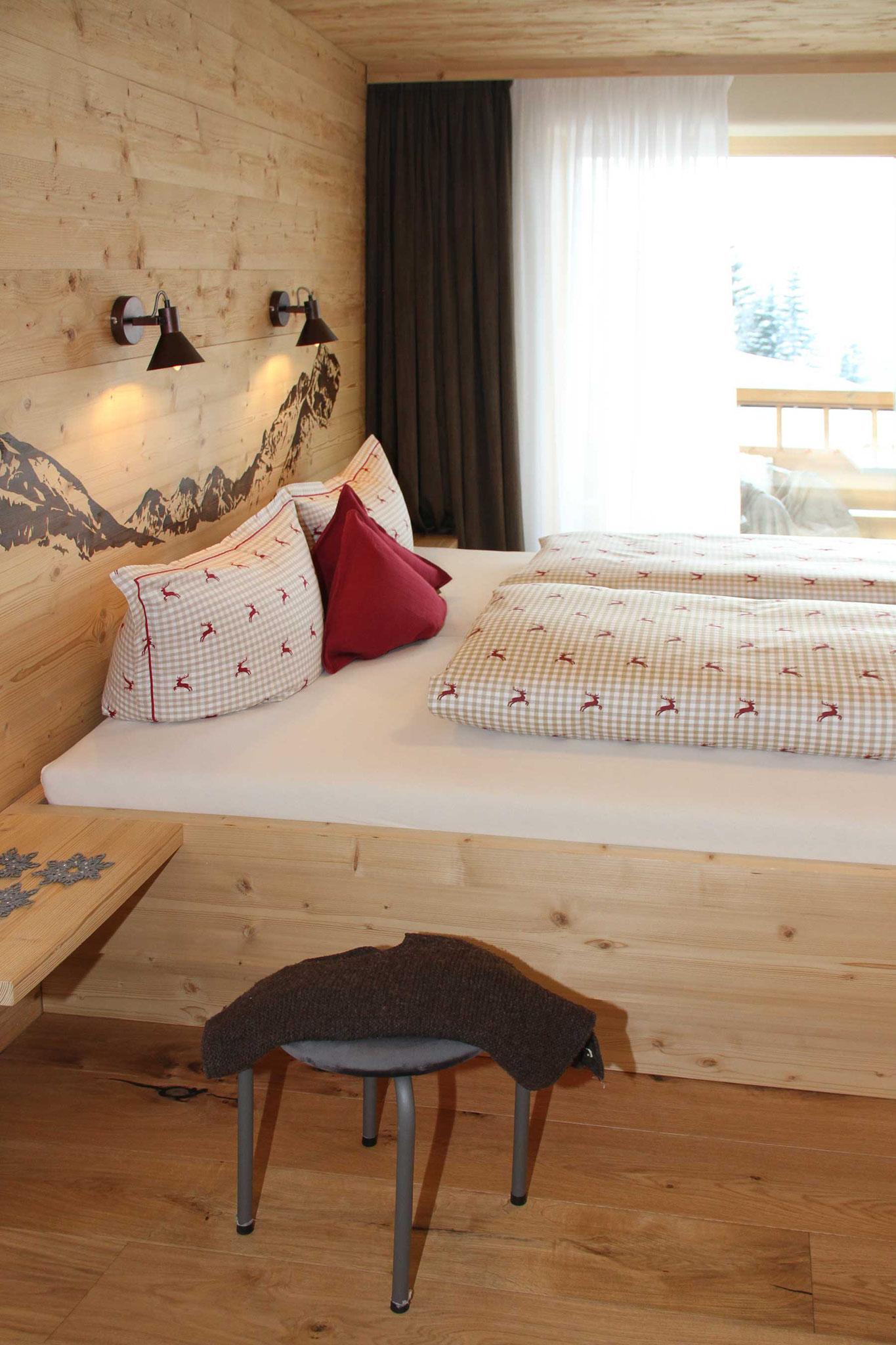 exklusive Ferienwohnung, Wiesengrund, Kleinwalsertal, Gamswurz, Schlafzimmer