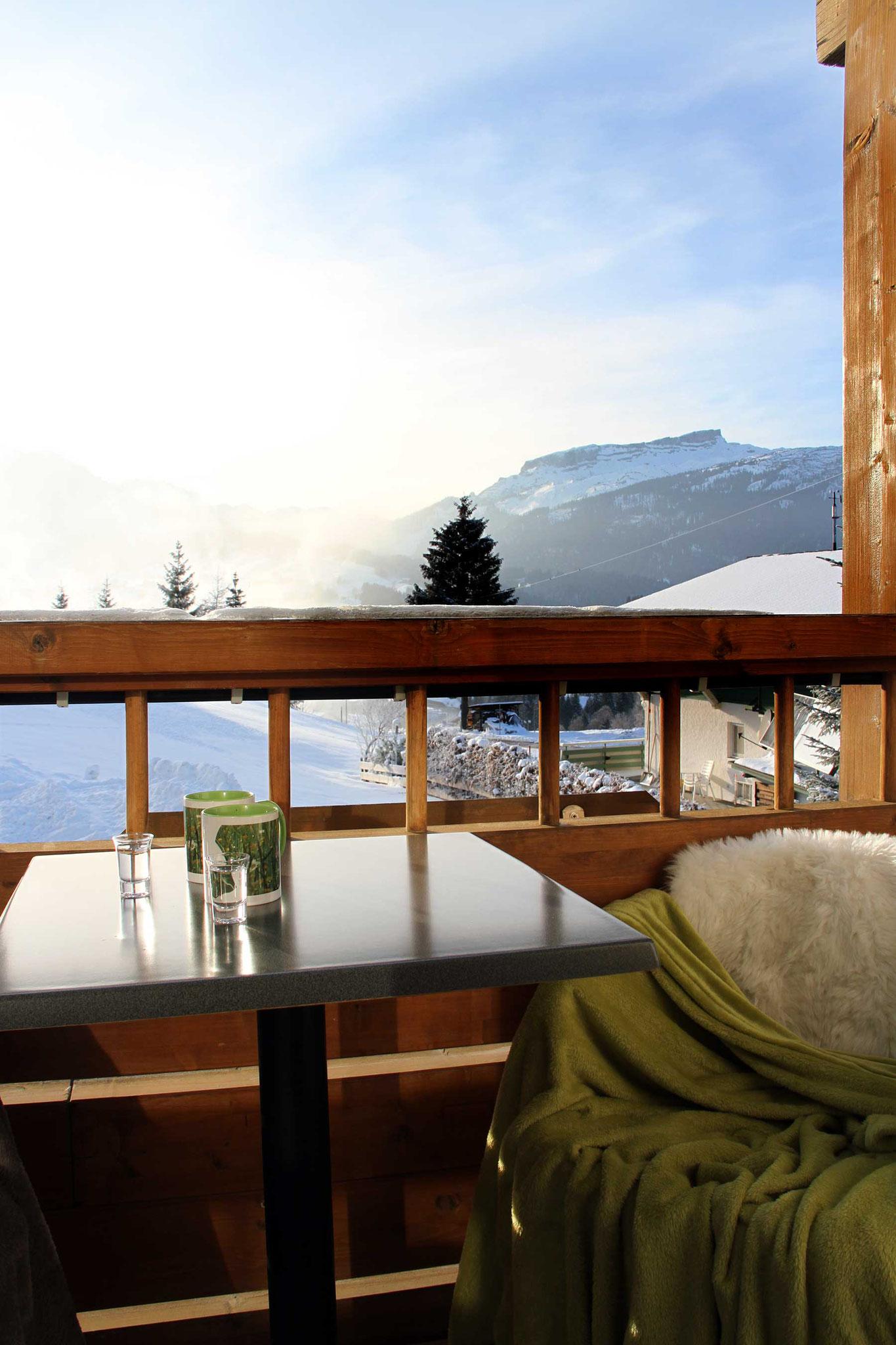 exklusive Ferienwohnung, Wiesengrund, Kleinwalsertal, Gamswurz, Balkon