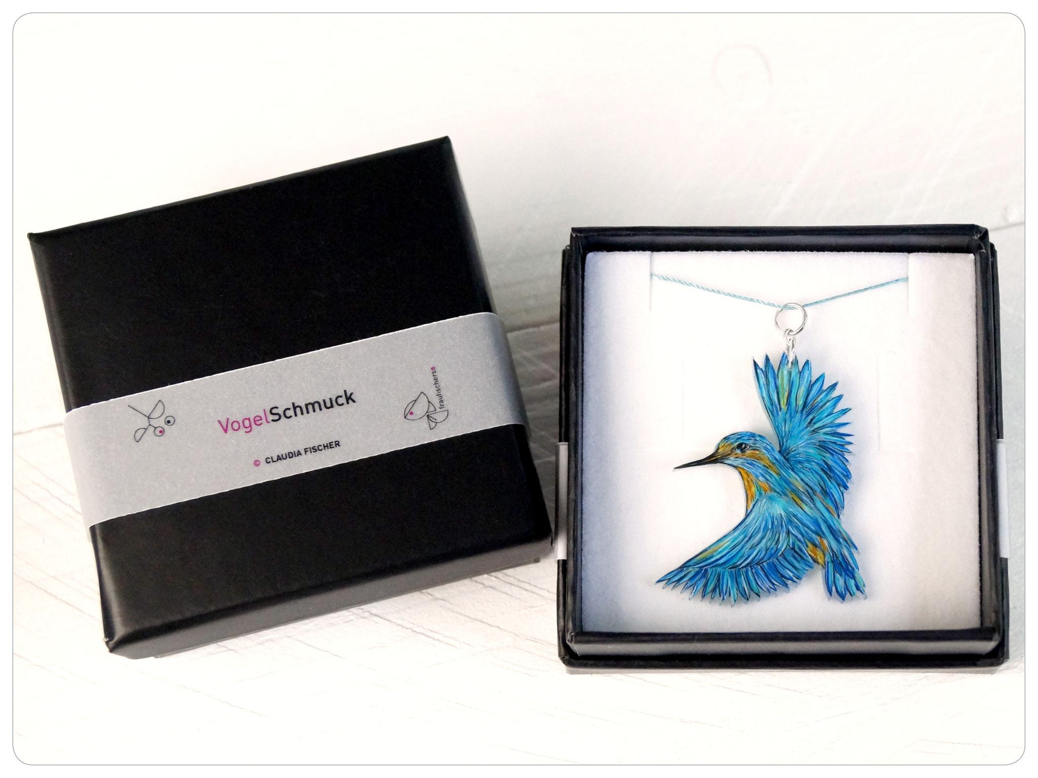 Verpackung für Vogelkette Eisvogel