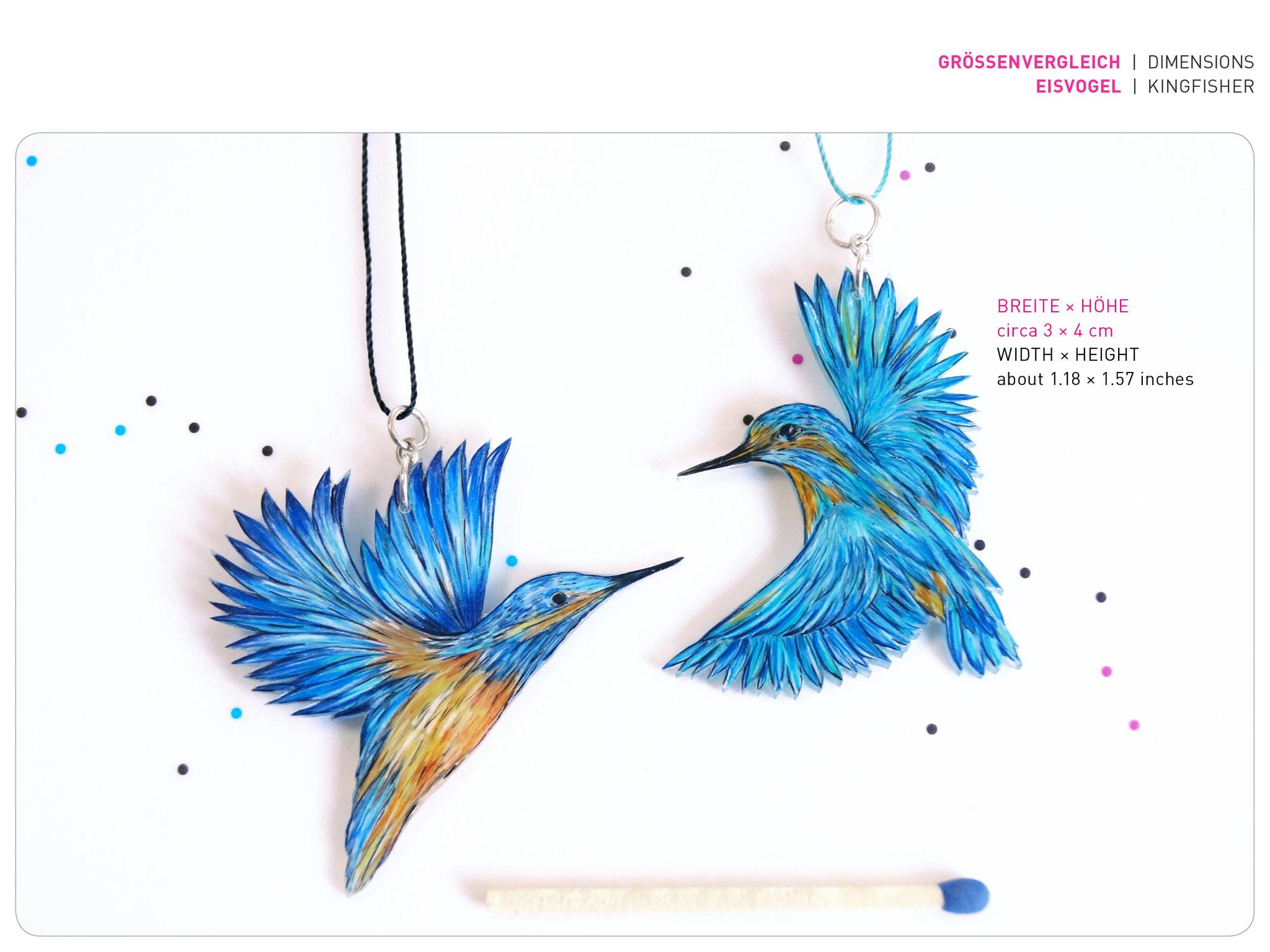Größe Vogelanhänger