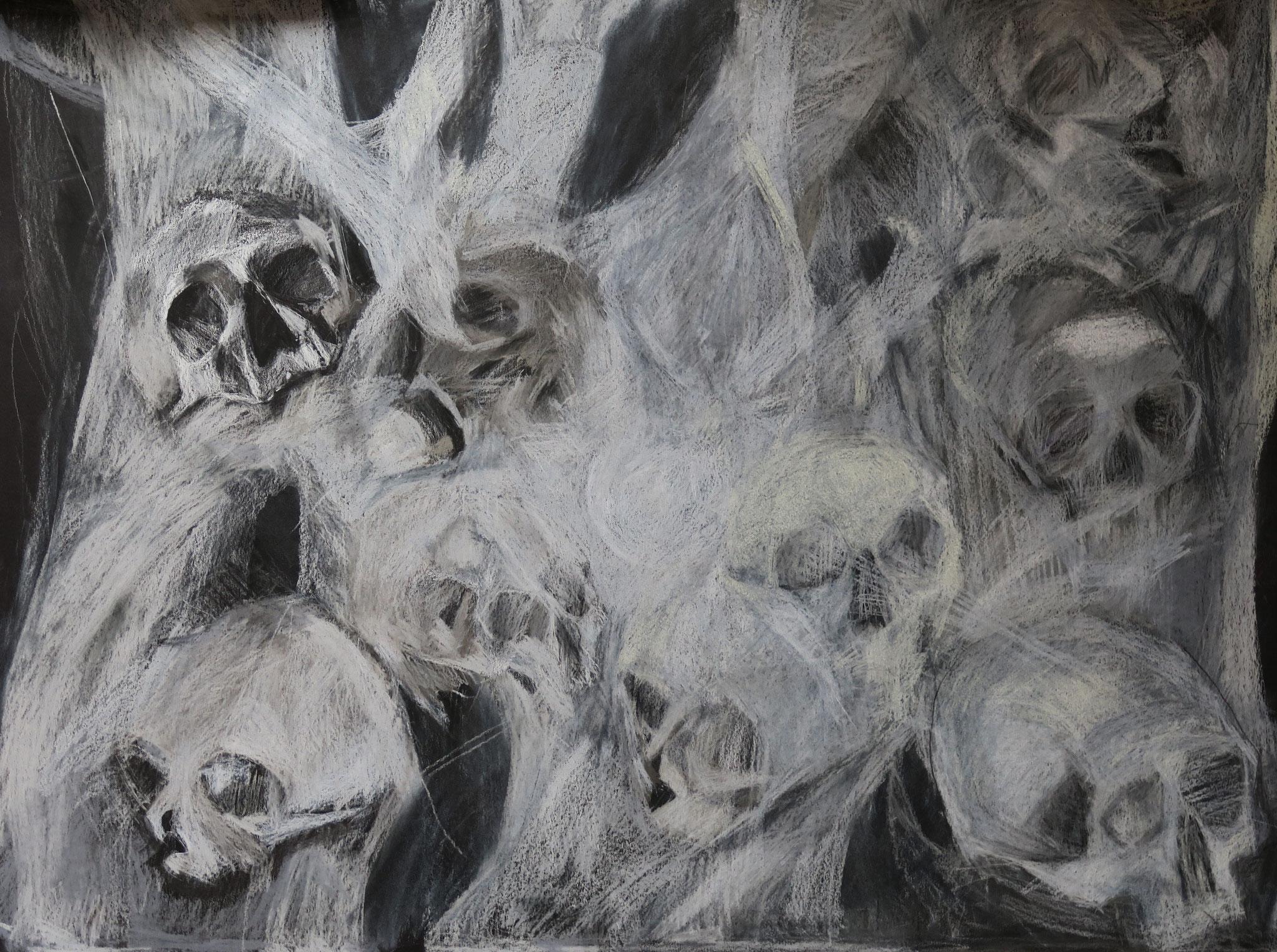 Sans titre, crayon sur papier, 2017, 50 x 65 cm