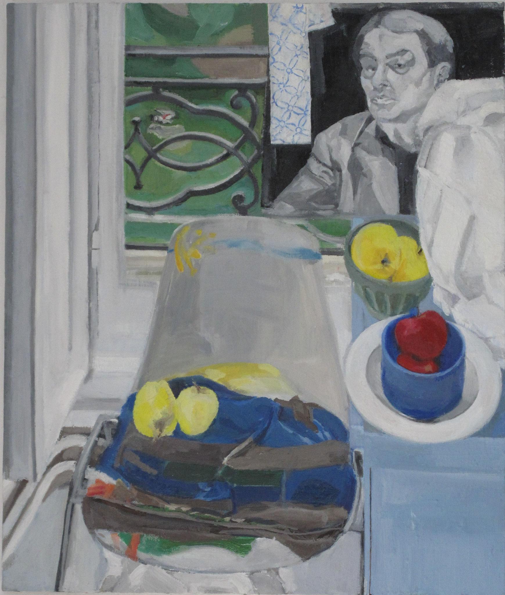 Nature Morte Politique I, 2014, huile sur toile, 55 x 46 cm