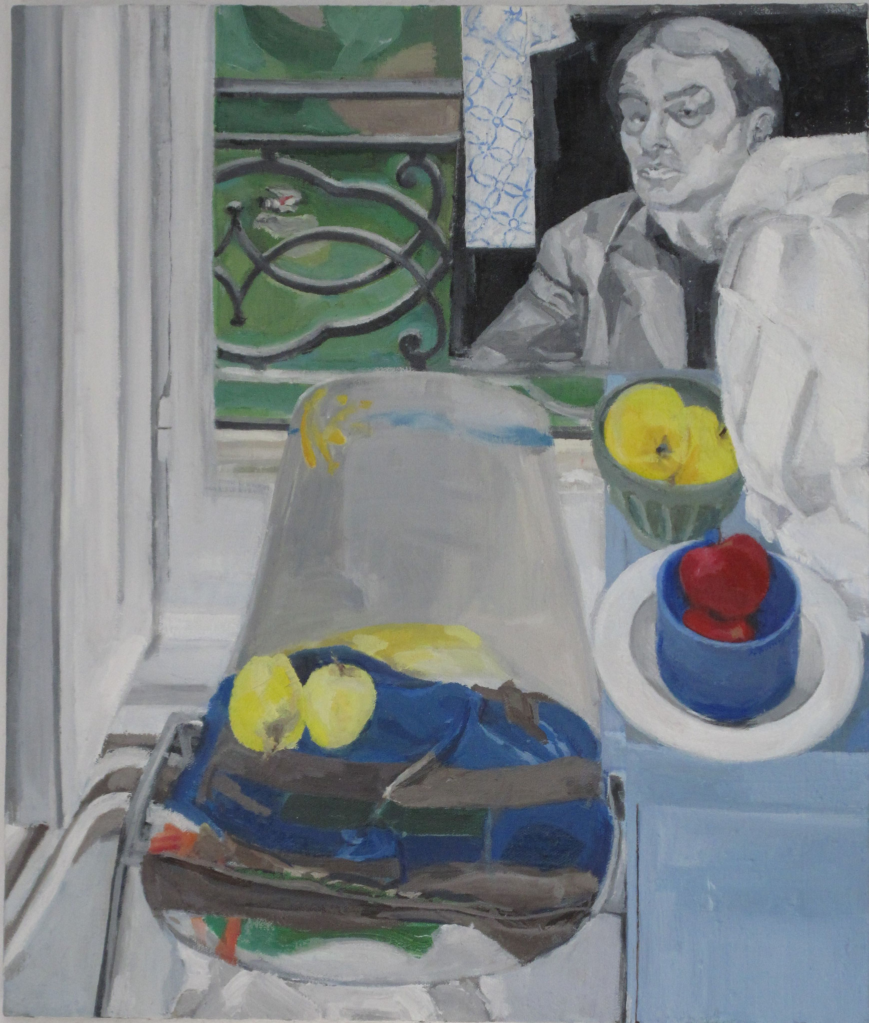 Political Still Life I, 2014, Oil on canvas, 21.6 x 18.1 in.