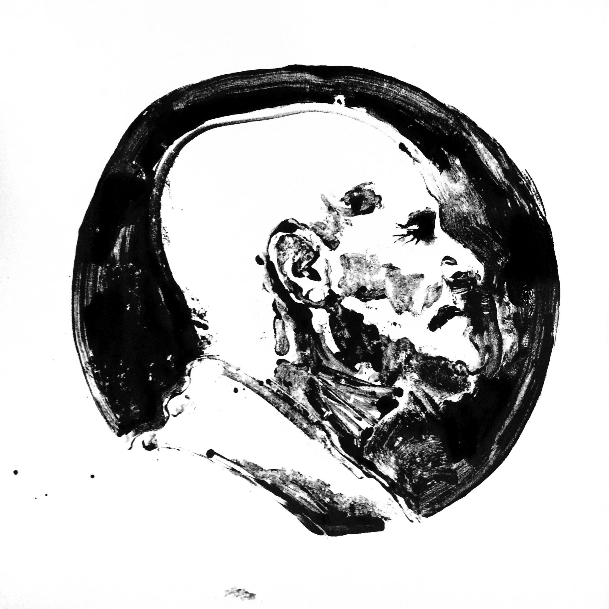 Elyseum, 80 x 80 cm, ink on paper