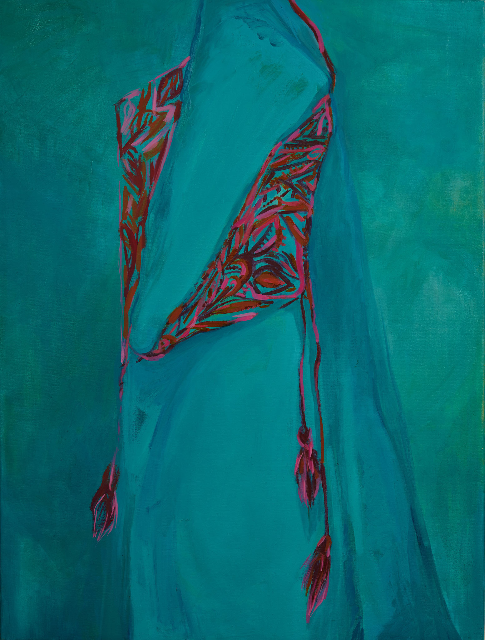 My Romanian Blouse, Oil on canvas, 2015, 23.6 x 31.4 in.