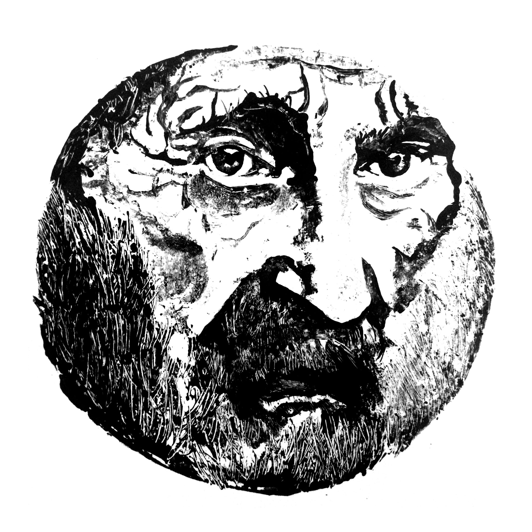 Depth, 45 x 45 cm, ink on paper