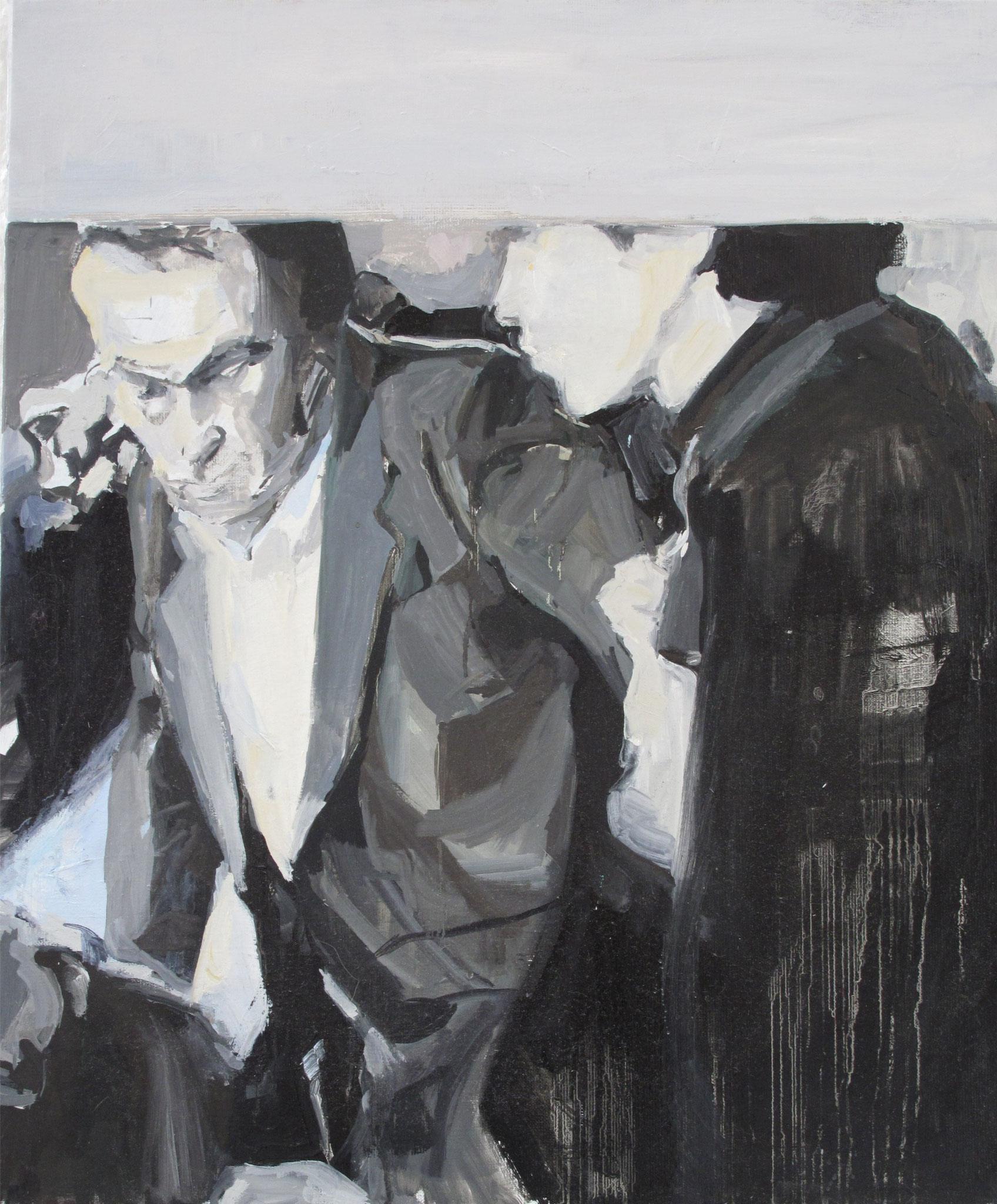 Sans titre - Journaux, Huile sur toile, 2013, 65 x 54 cm