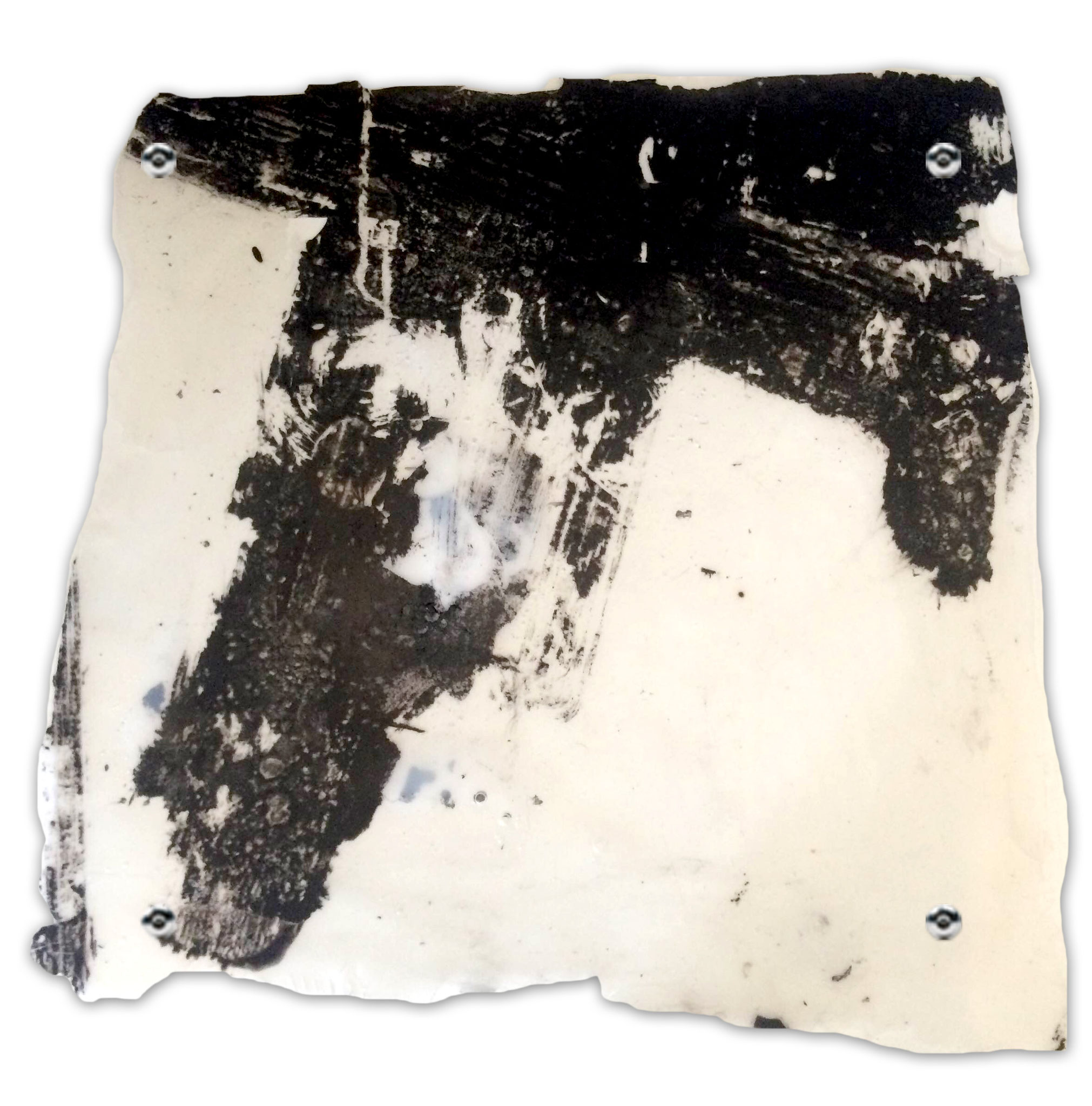 Tile II, 2016, mixed media on vinilic glue