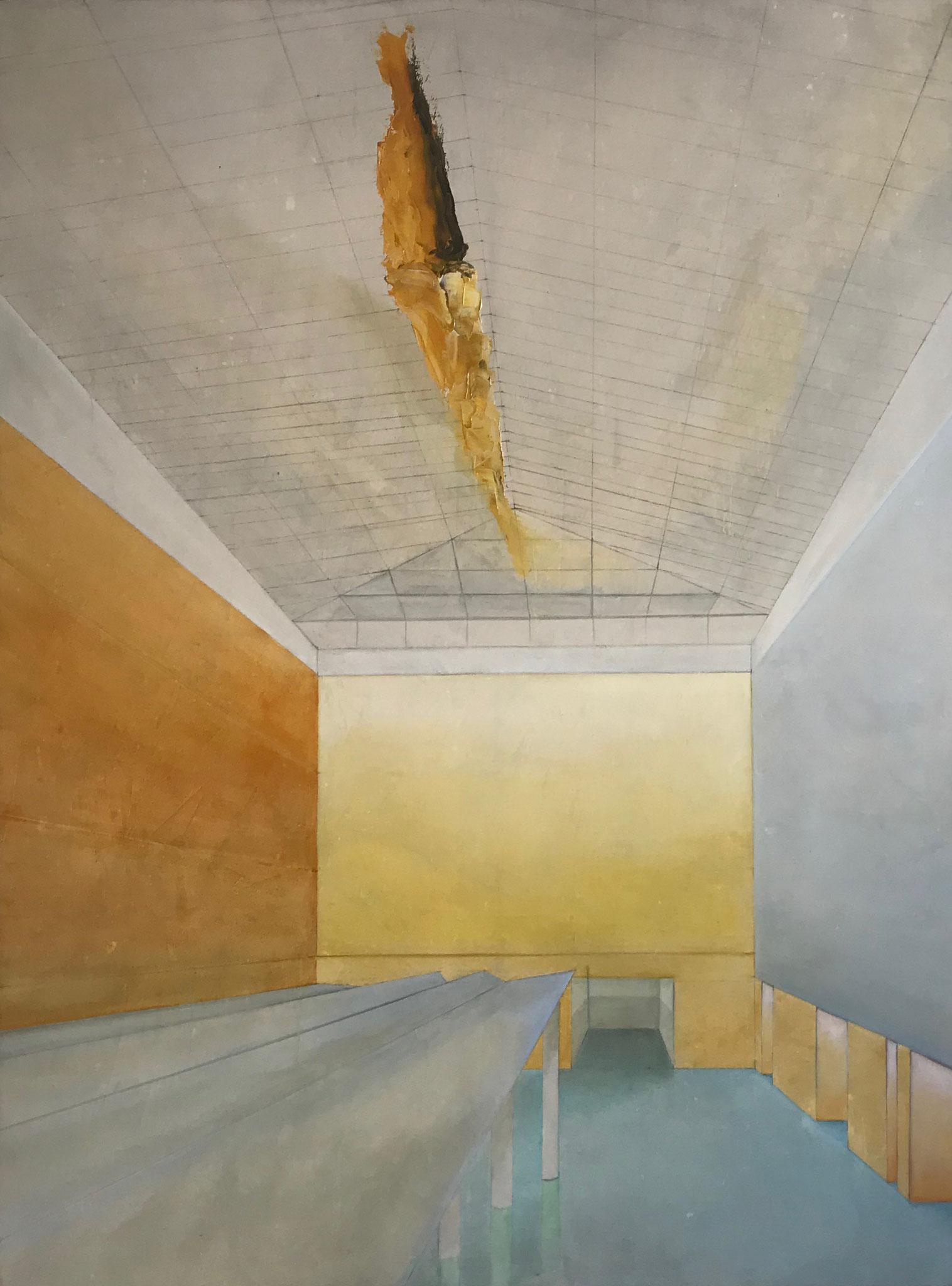 Nick Bruns, huile sur toile, 130 x 97 cm