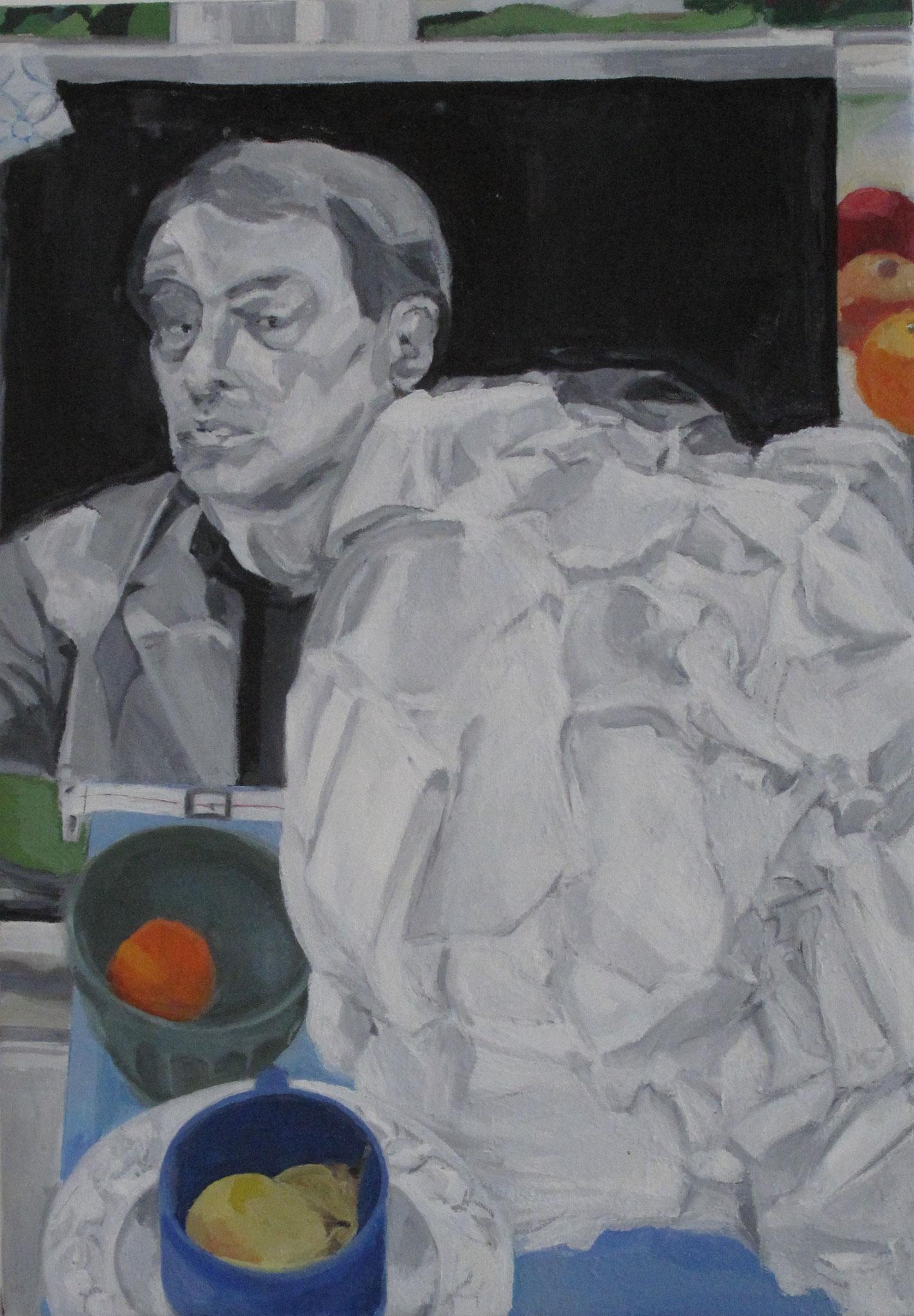 Nature Morte Politique II, 2014, huile sur toile, 65 x 46 cm