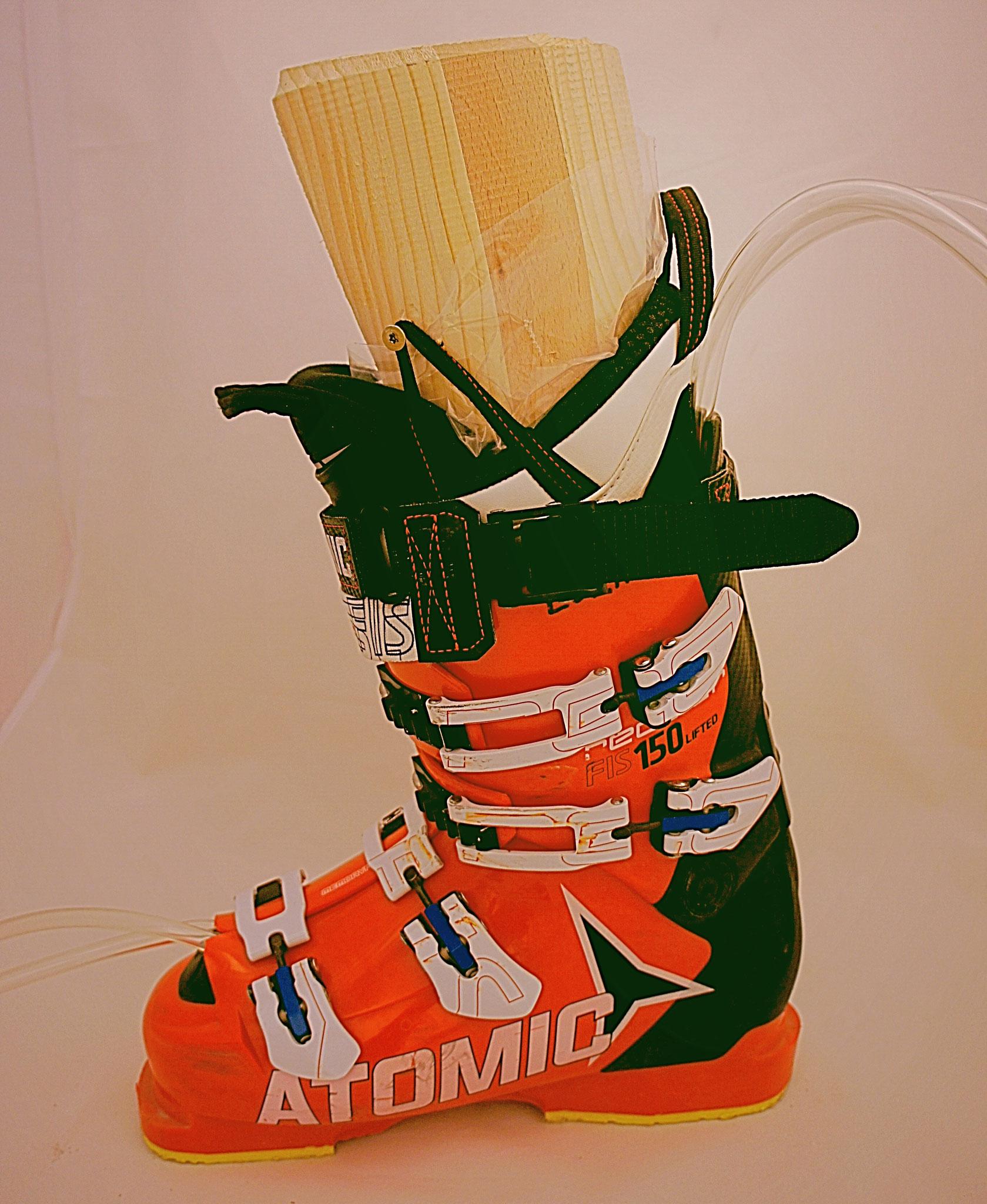 Skischuh mit geschäumtem Innenschuh
