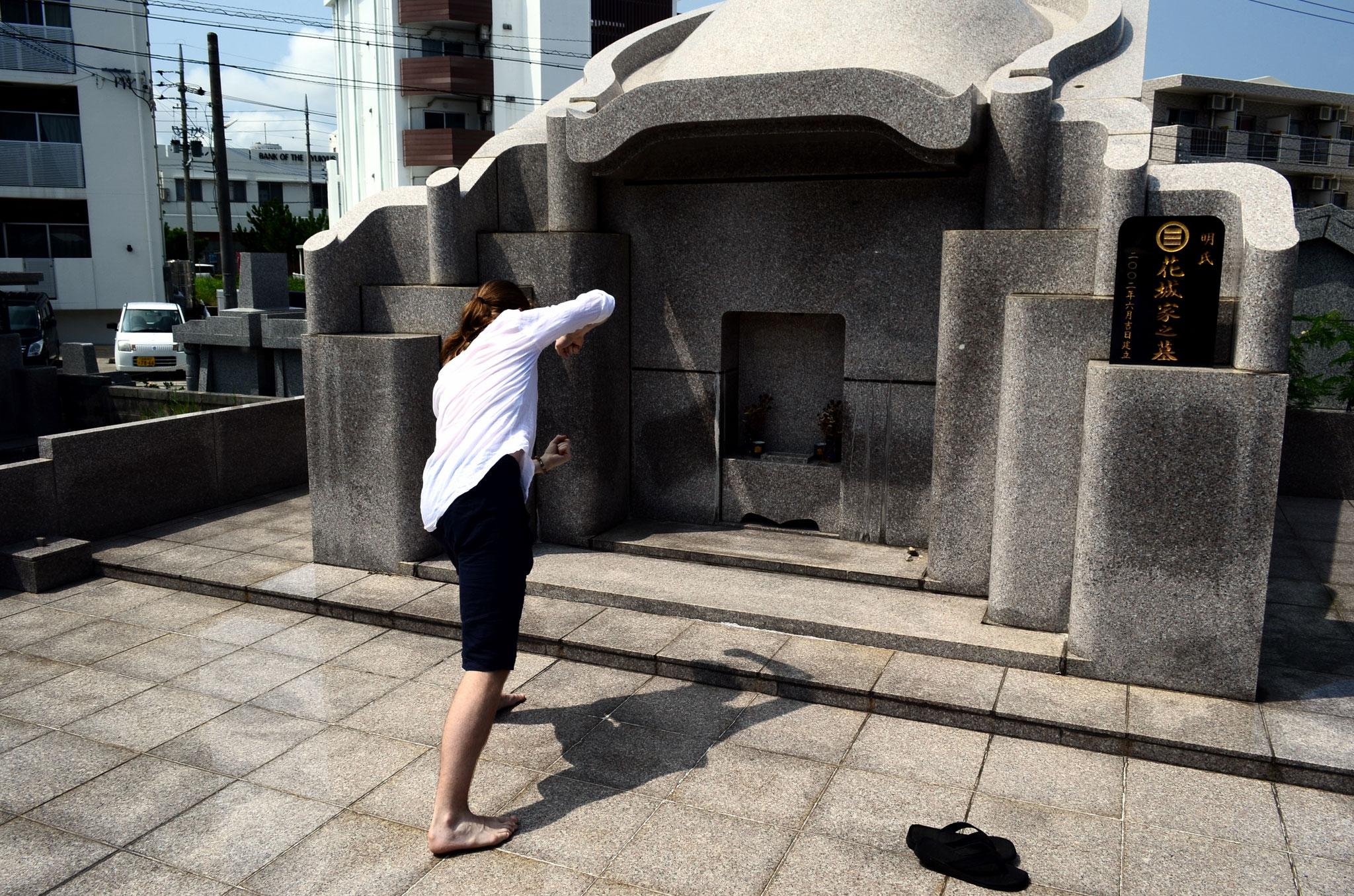 Karate Geschichtstour – Grab von Choumo Hanashiro