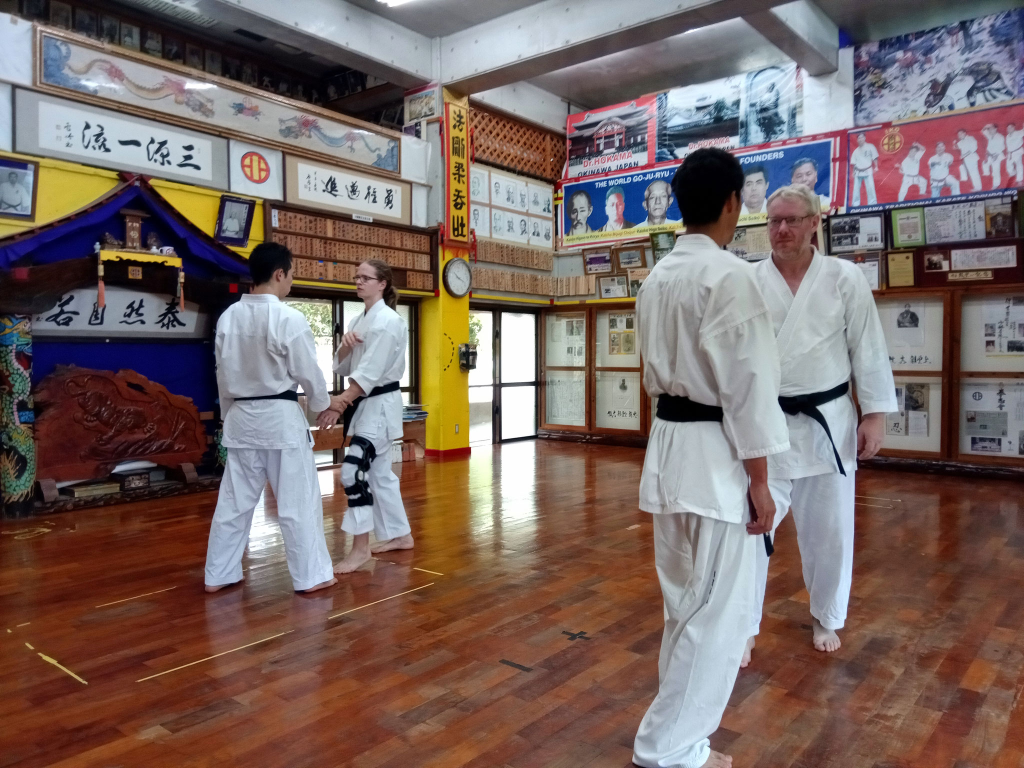 Training bei Hokama Hanshi